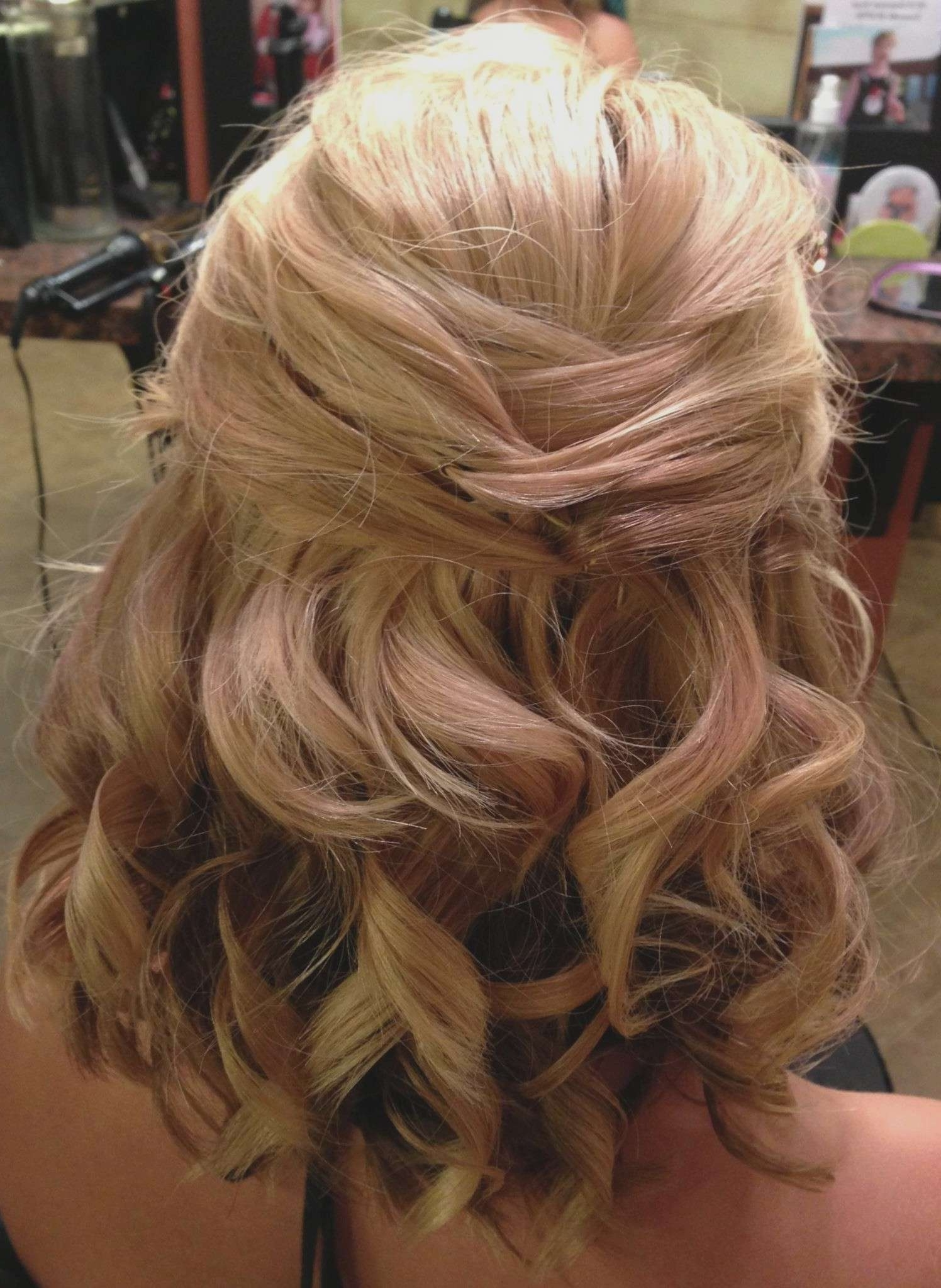 Half Up Half Down Wedding Hairstyles For Medium Length Hair Luxury For 2017 Wedding Down Hairstyles For Medium Length Hair (View 5 of 15)