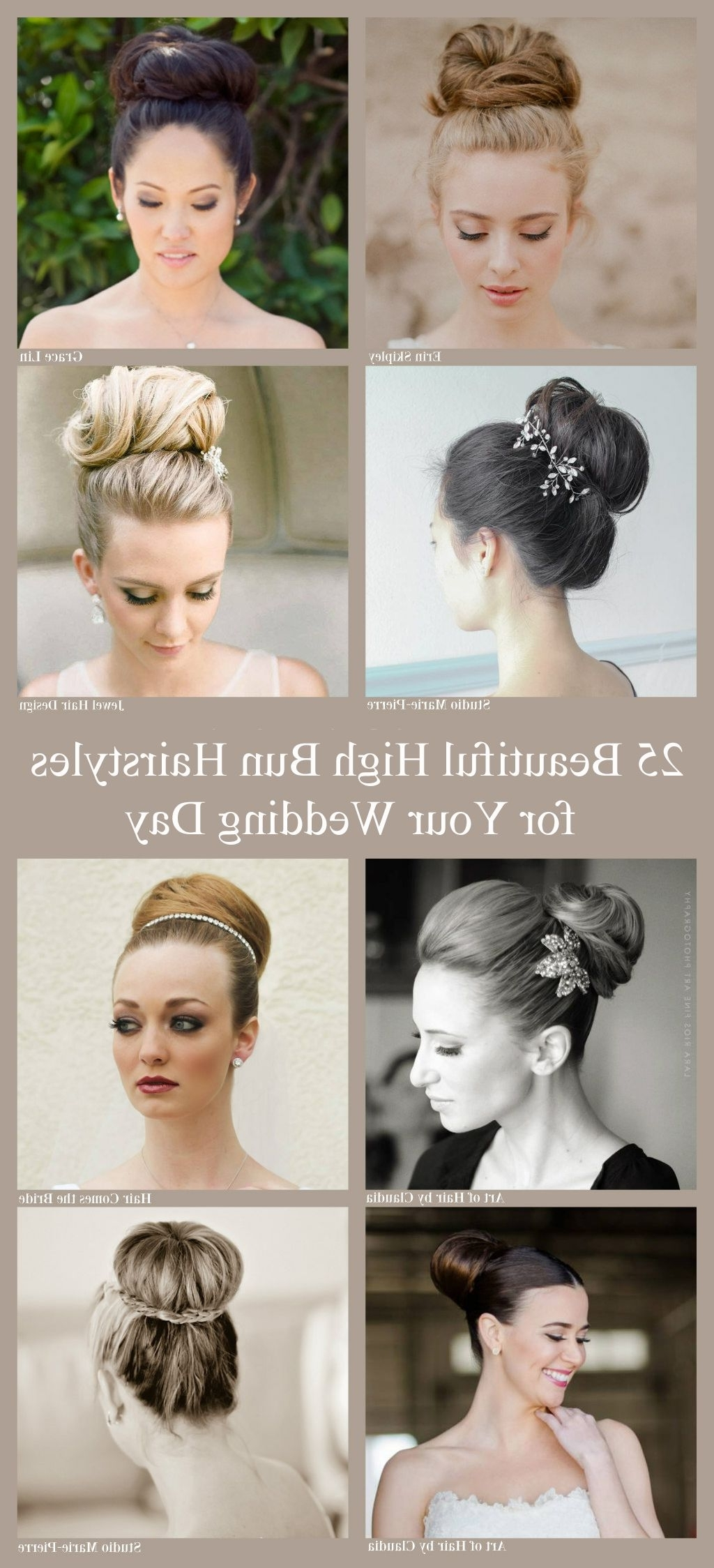 High Bun, Bridal Hairstyle And (View 5 of 15)