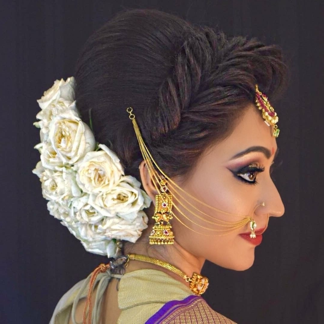 Hindu Wedding Hairstyles Elegant Asian Wedding Hairstyles For Long Within Best And Newest Hindu Bride Wedding Hairstyles (View 14 of 15)
