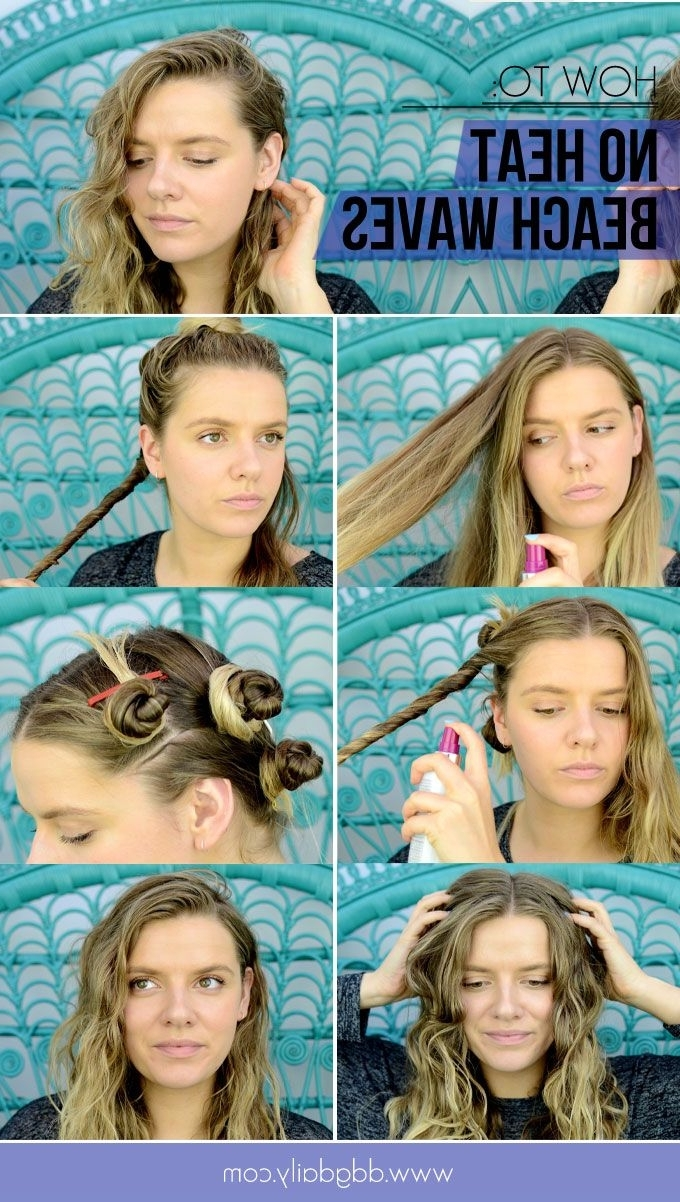 How To Get Beach Waves Without Using Heat Tools Within 2018 Wedding Hairstyles Without Heat (View 10 of 15)