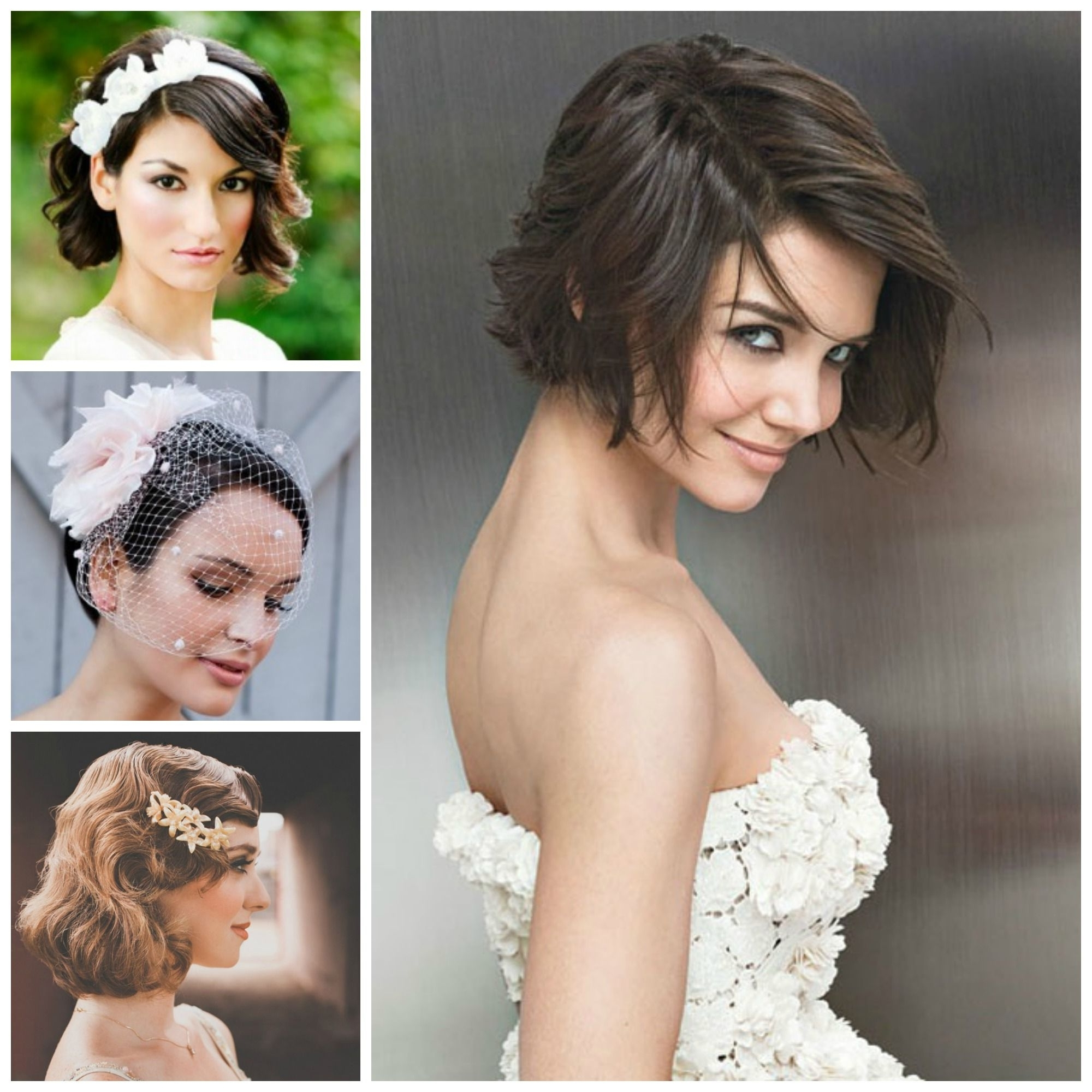 Ideas Bridesmaid Hairstyles For Short Hair Pinterest Indian Bridal With Regard To Widely Used Wedding Hairstyles For Short Hair (View 9 of 15)