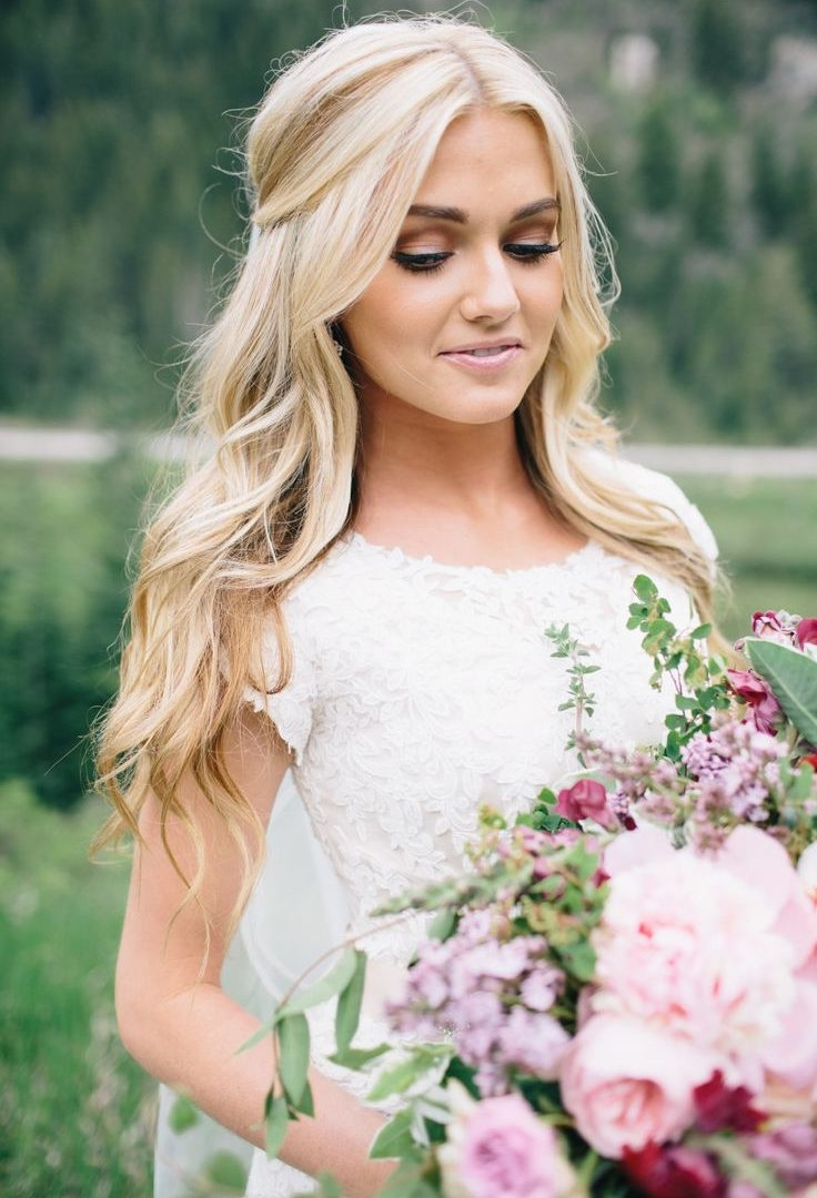 Ideas Looseurls Wedding Hair Half Up Down Updo Hairstyles Longurly Inside Current Wedding Hairstyles For Long Loose Curls Hair (Gallery 7 of 15)