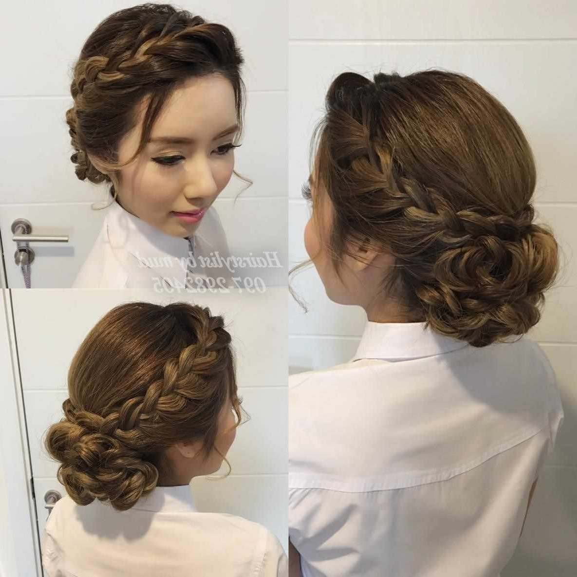 Ideas Medium Length Hair Wedding Hairstyle Updos Bridesmaids About With Regard To Most Current Easy Wedding Hair For Bridesmaids (View 6 of 15)