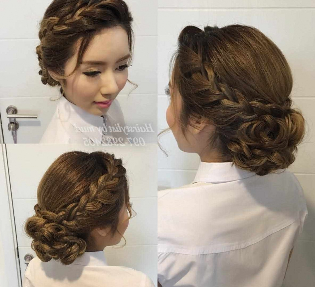Ideas Medium Length Hair Wedding Hairstyle Updos Bridesmaids About With Regard To Well Known Hairstyles For Medium Length Hair For Wedding (View 11 of 15)