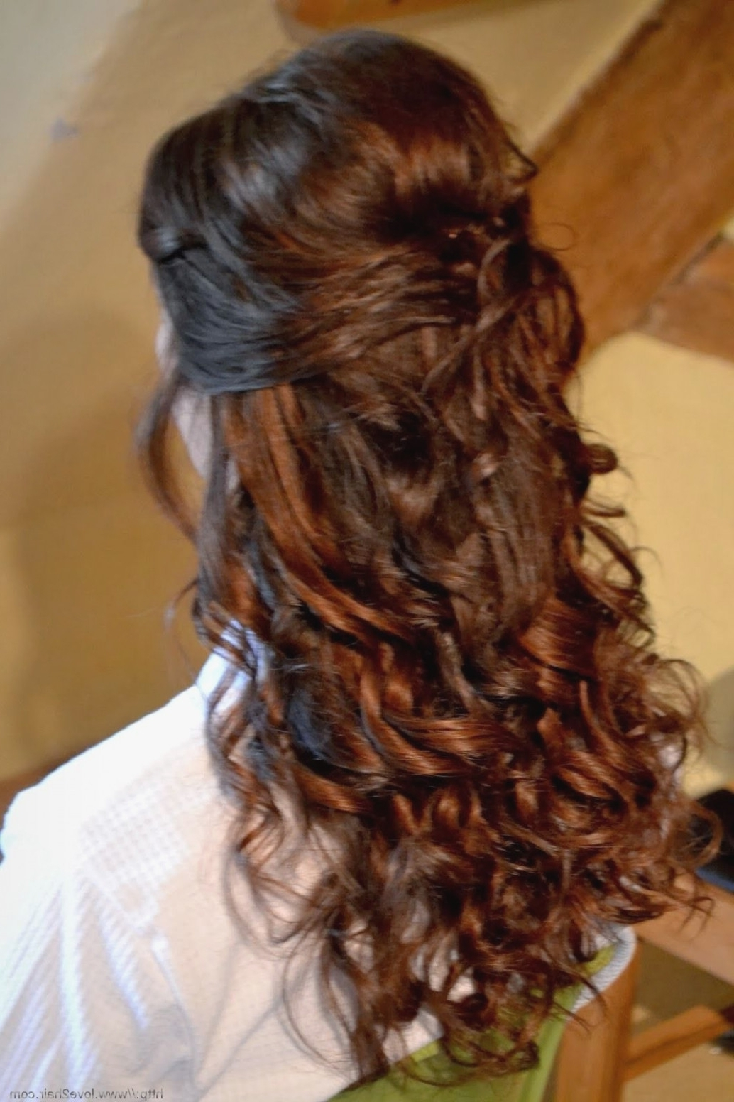 Image Result For Wedding Hairstyles For Long Curly Hair Down Throughout Fashionable Half Up Wedding Hairstyles Long Curly Hair (View 9 of 15)
