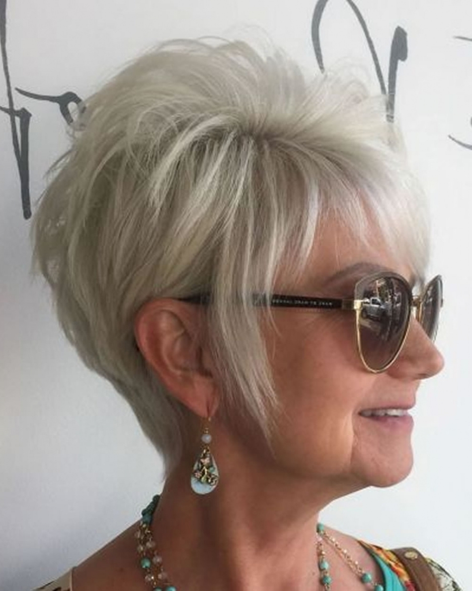 Impressive Short Hairstyle For Older Ladies Hairstyles With Glasses Within Most Recent Wedding Hairstyles With Glasses (View 9 of 15)