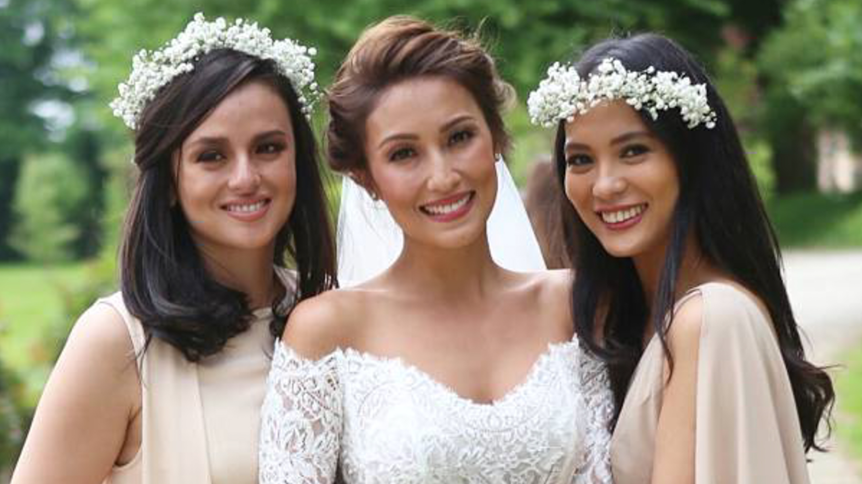 In Photos: Celebrity Guests At Solenn Heussaff, Nico Bolzico's Wedding Pertaining To Most Recently Released Wedding Entourage Hairstyles (View 7 of 15)