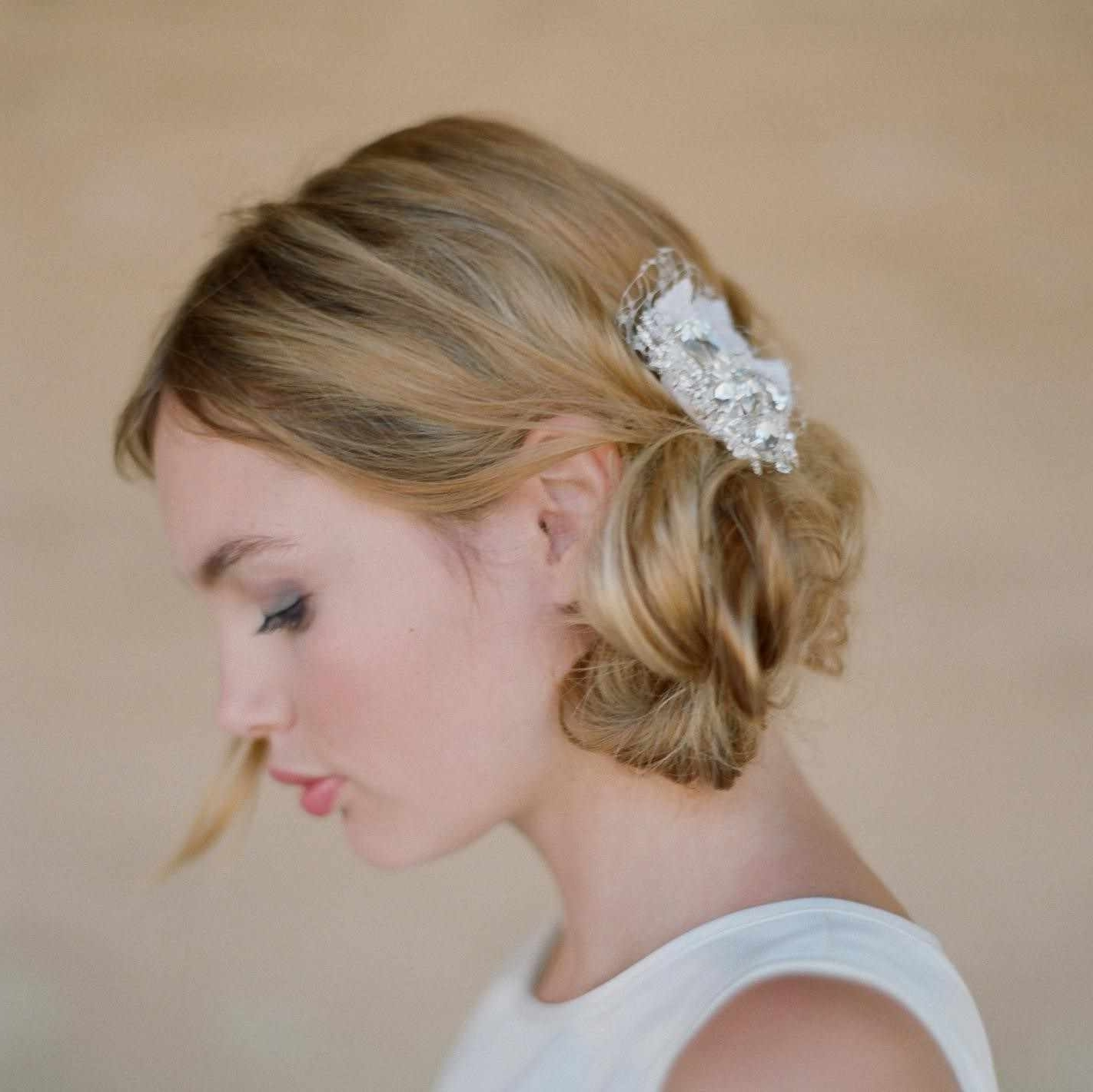 Incredible Wedding For Bride Best Bridal Round Faces Hairstyle Pic Throughout Fashionable Modern Wedding Hairstyles For Medium Length Hair (View 11 of 15)