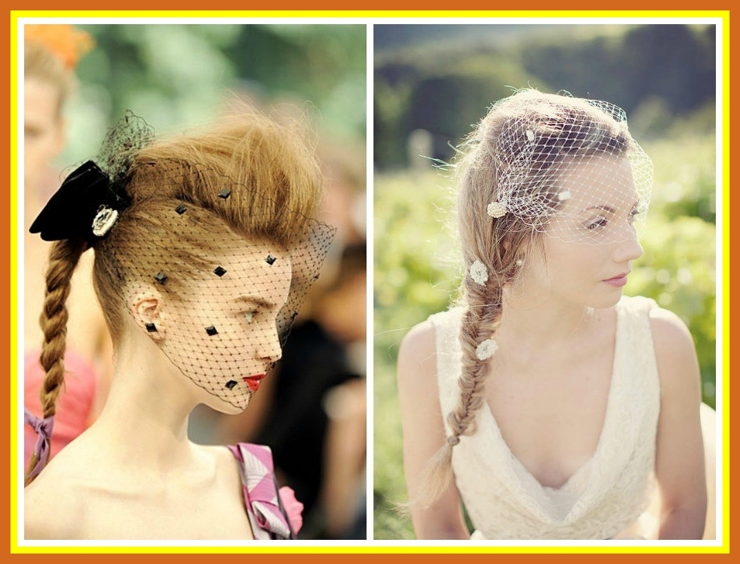 Incredible Wedding Hairstyles With A Birdcage Veil Hair World With Regard To Most Recent Wedding Hairstyles For Long Hair With Birdcage Veil (View 8 of 15)