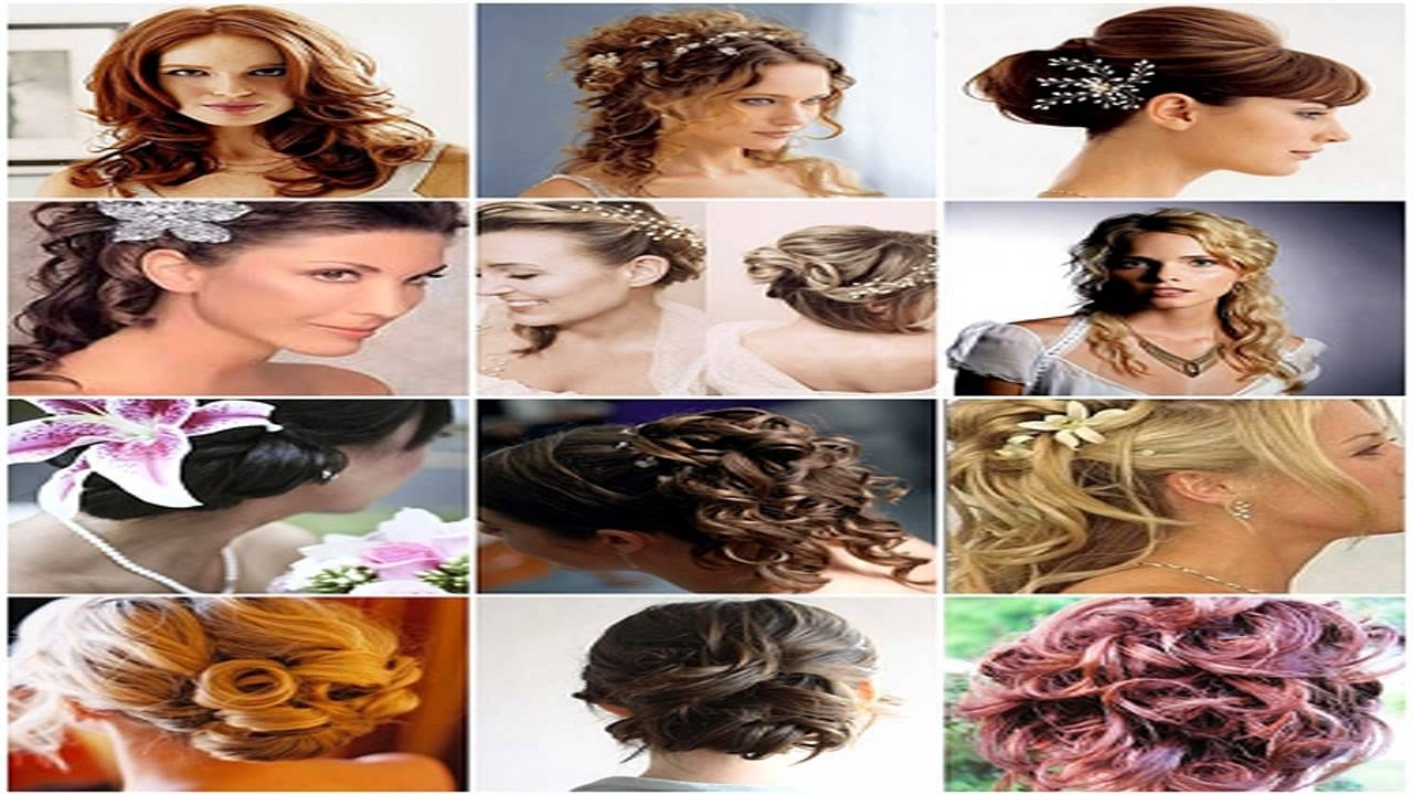 Indian Bridal Hairstylesestherkinder – Youtube Pertaining To Most Recent Wedding Hairstyles By Esther Kinder (Gallery 10 of 15)