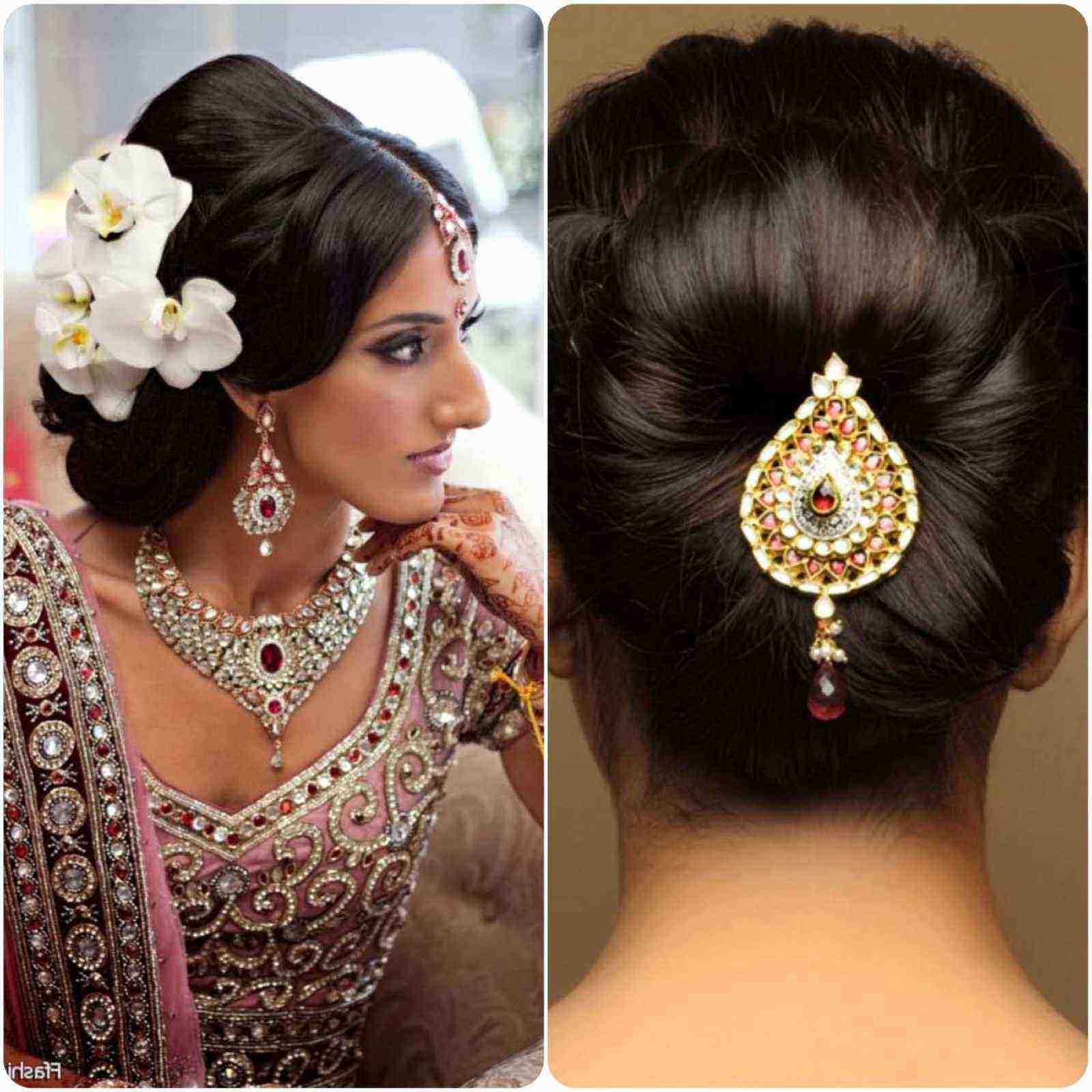 Indian Hairstyles For Short Hair Best Of Indian Wedding Hairstyles Inside 2018 Wedding Hairstyles For Short Hair And Round Face (View 3 of 15)