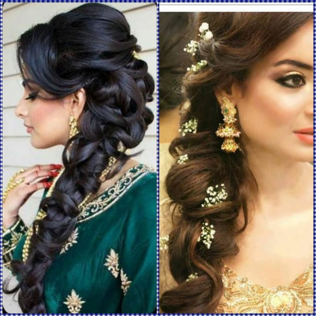 Indian Wedding Hairstyles For Mid To Long Hair Throughout 2018 Easy Indian Wedding Hairstyles For Long Hair (View 12 of 15)