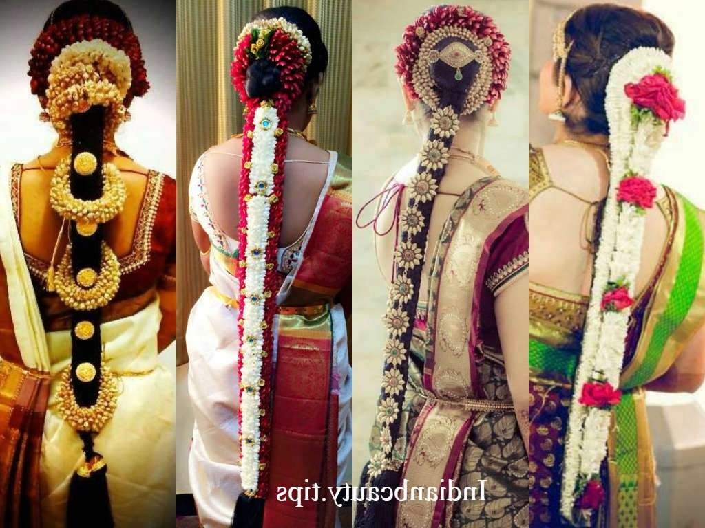 Indian Wedding Hairstyles For Mid To Long Hair Within Popular South Indian Wedding Hairstyles For Medium Length Hair (View 15 of 15)