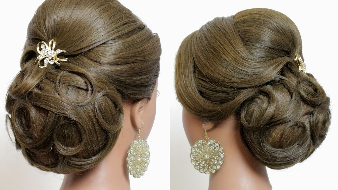 Photo Gallery Of Put Up Wedding Hairstyles For Long Hair Viewing 7