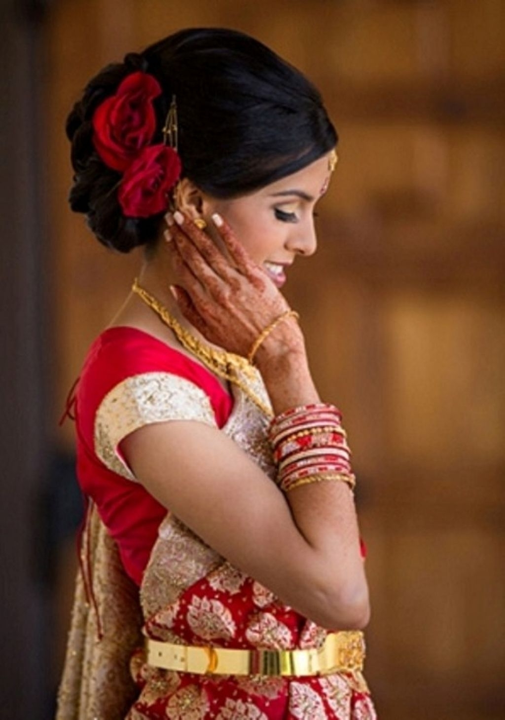 Indian Wedding Reception Hairstyle Pictures Hollywood Official With 2018 Indian Wedding Reception Hairstyles (View 8 of 15)