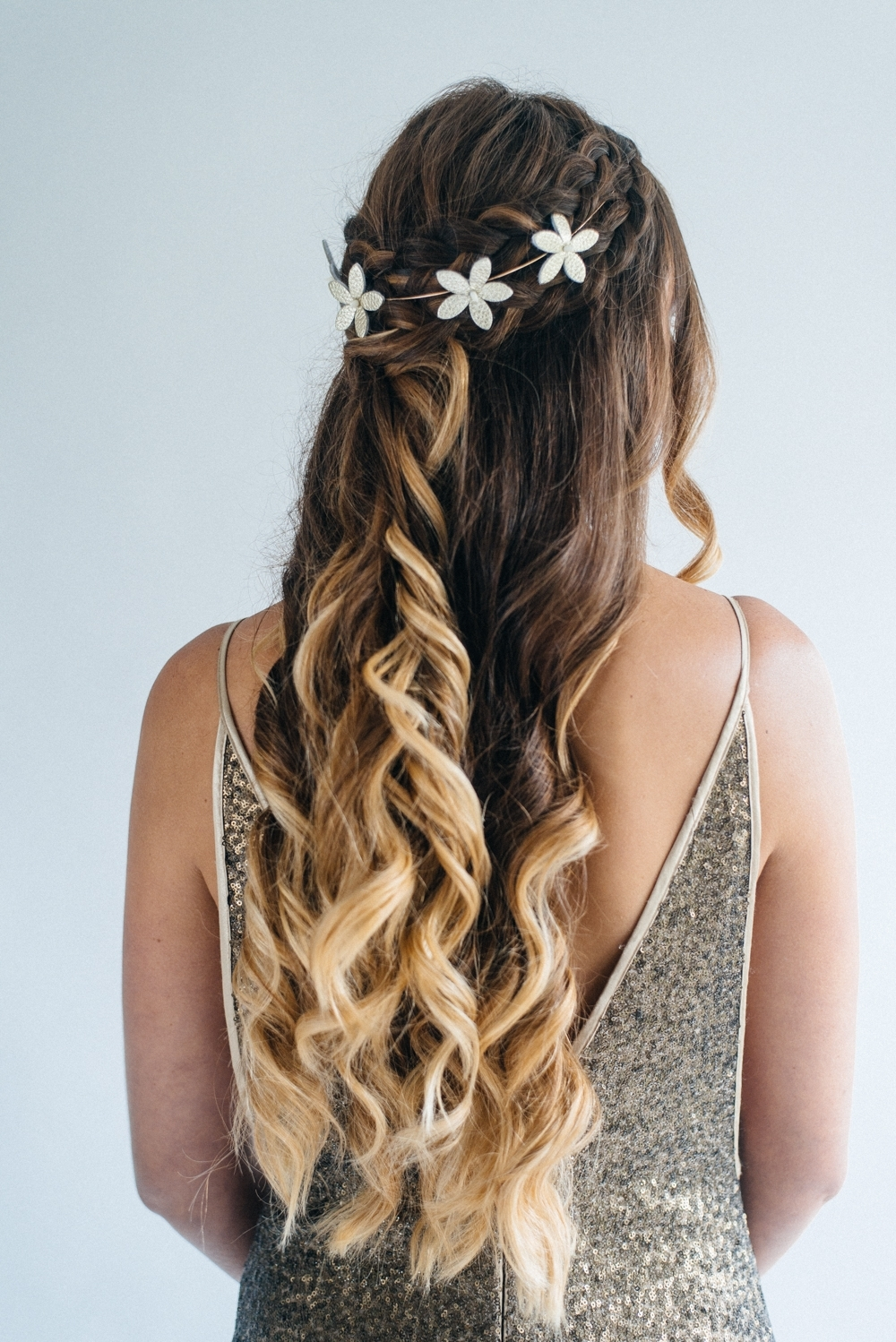 Inspiration For Half Up Half Down Wedding Hair With Tousled Waves Within Best And Newest Up And Down Wedding Hairstyles (Gallery 13 of 15)