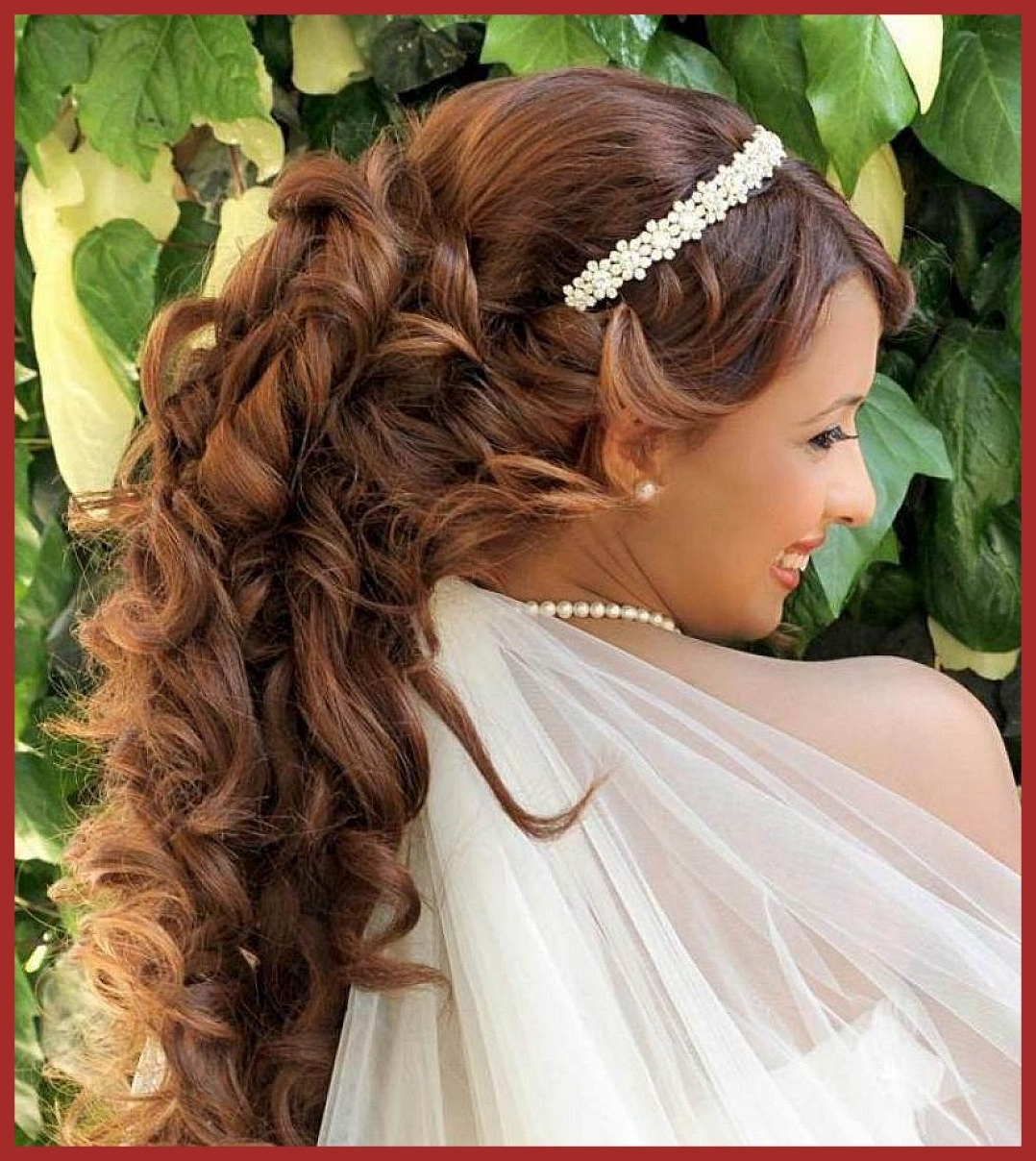 Inspiring Wedding Hairstyles For Long Hair Half Up With Tiara Eve Within Latest Wedding Hairstyles For Long Hair With A Tiara (View 5 of 15)