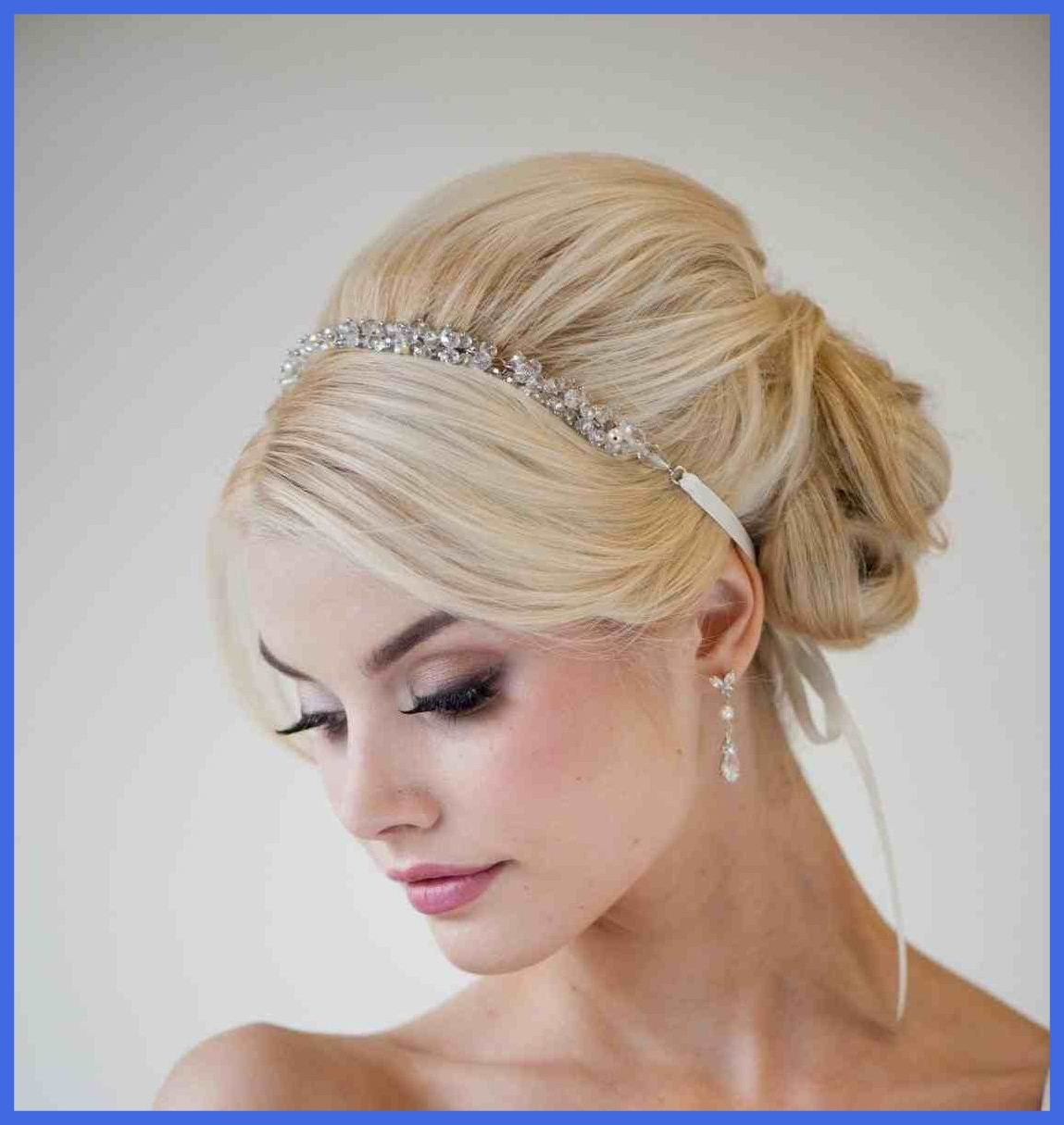 Inspiring Wedding Hairstyles Half Up Down With Veil The Big River For Favorite Wedding Hairstyles With Headband And Veil (Gallery 8 of 15)