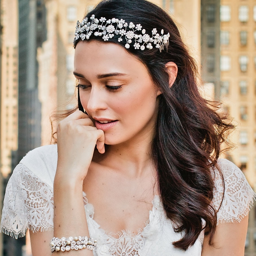 Jamaica Wedding & Bridal Hair Accessories – Ellen Hunter Nyc – Cust For Most Up To Date Wedding Hairstyles With Jewelry (View 2 of 15)