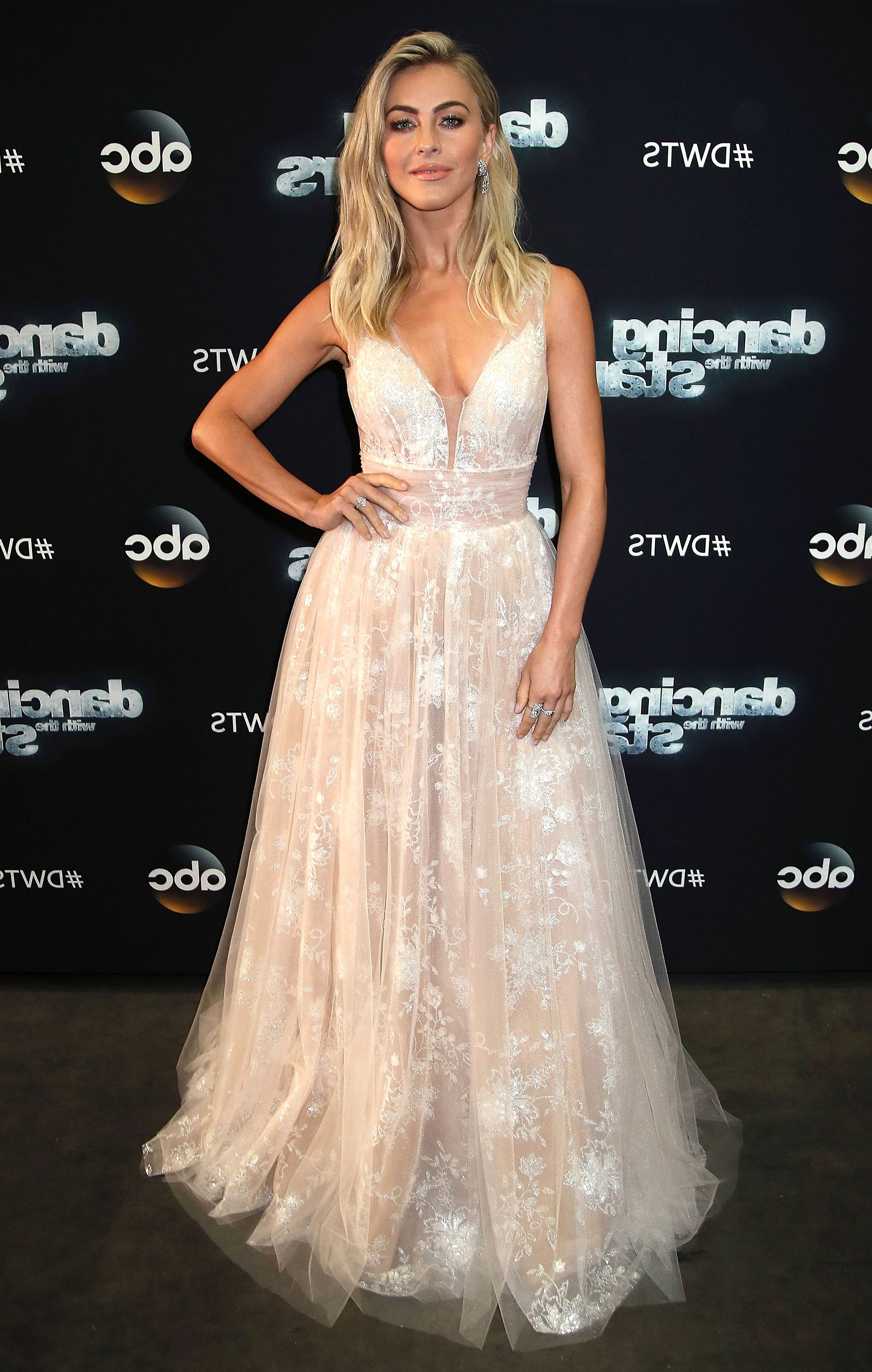 Julianne Hough Wears Bridal Dress On 'dancing With The Stars For Trendy Julianne Hough Wedding Hairstyles (View 7 of 15)