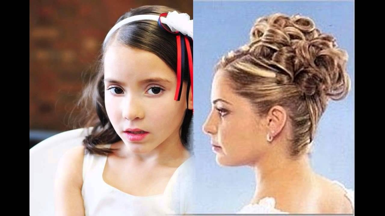 Junior Bridesmaid Hairstyles – Youtube With Fashionable Cute Wedding Hairstyles For Junior Bridesmaids (Gallery 1 of 15)