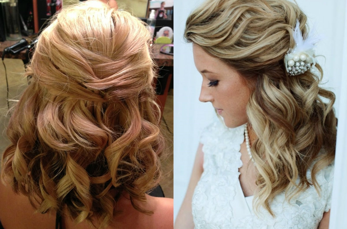 Latest Bohemian Wedding Hairstyles For Short Hair Inside Classy Choice Of Half Up And Half Down Wedding Hairstyles For Brides (View 9 of 15)