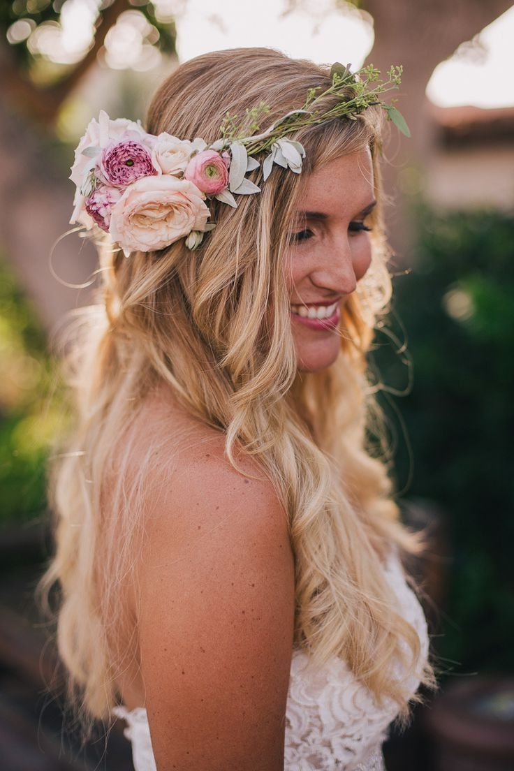 Latest Boho Wedding Hairstyles Within Appealing Boho Hairstyles For Summer Brides Image Of Bohemian (View 12 of 15)
