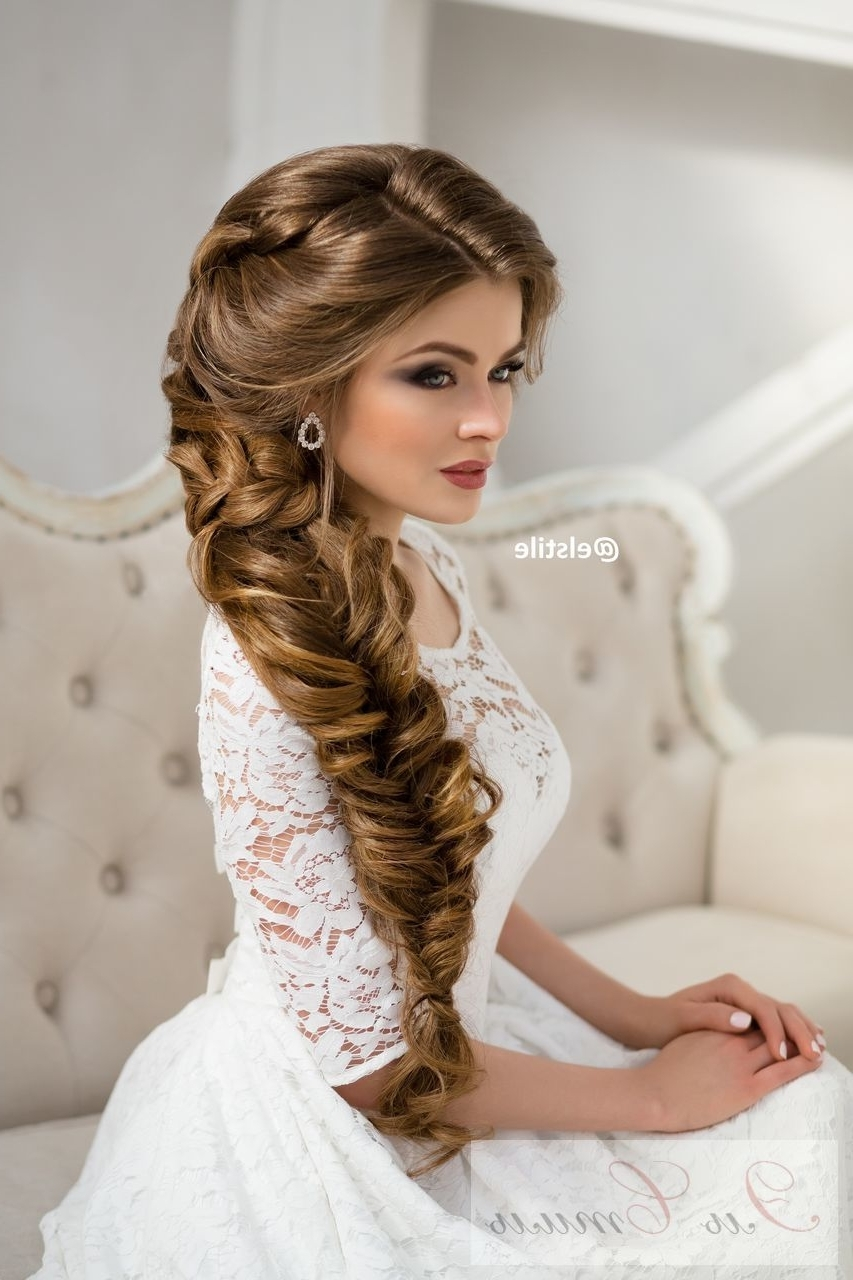 Latest Braided Wedding Hairstyles For Long Braided Wedding Hairstyle Via Elstile (View 13 of 15)