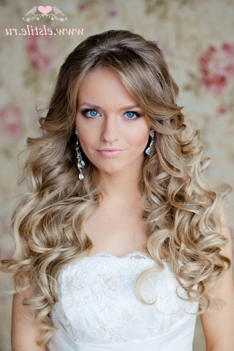 Latest Down Long Hair Wedding Hairstyles Within New Wedding Hairstyles Long Hair Down 83 For Your Inspiration With (View 7 of 15)
