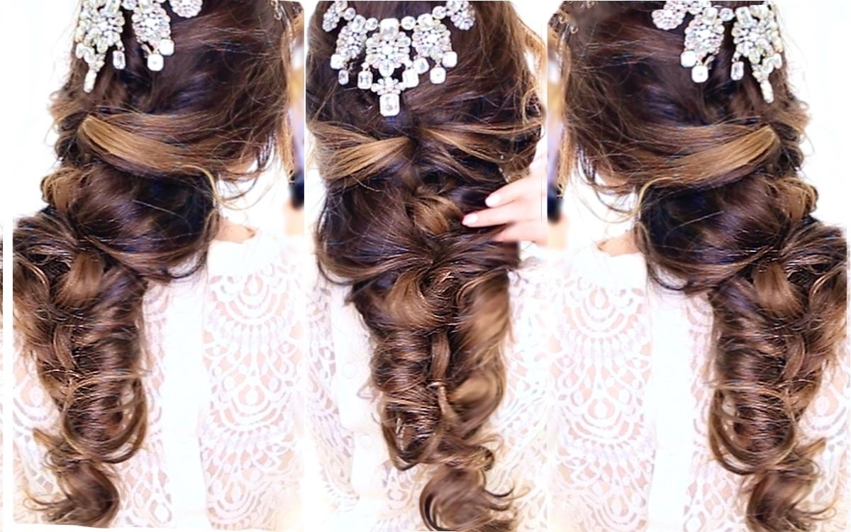 Latest Half Updo Wedding Hairstyles Inside Easy Crisscross Half Updo Hairstyle ?☆ Wedding Homecoming (View 15 of 15)