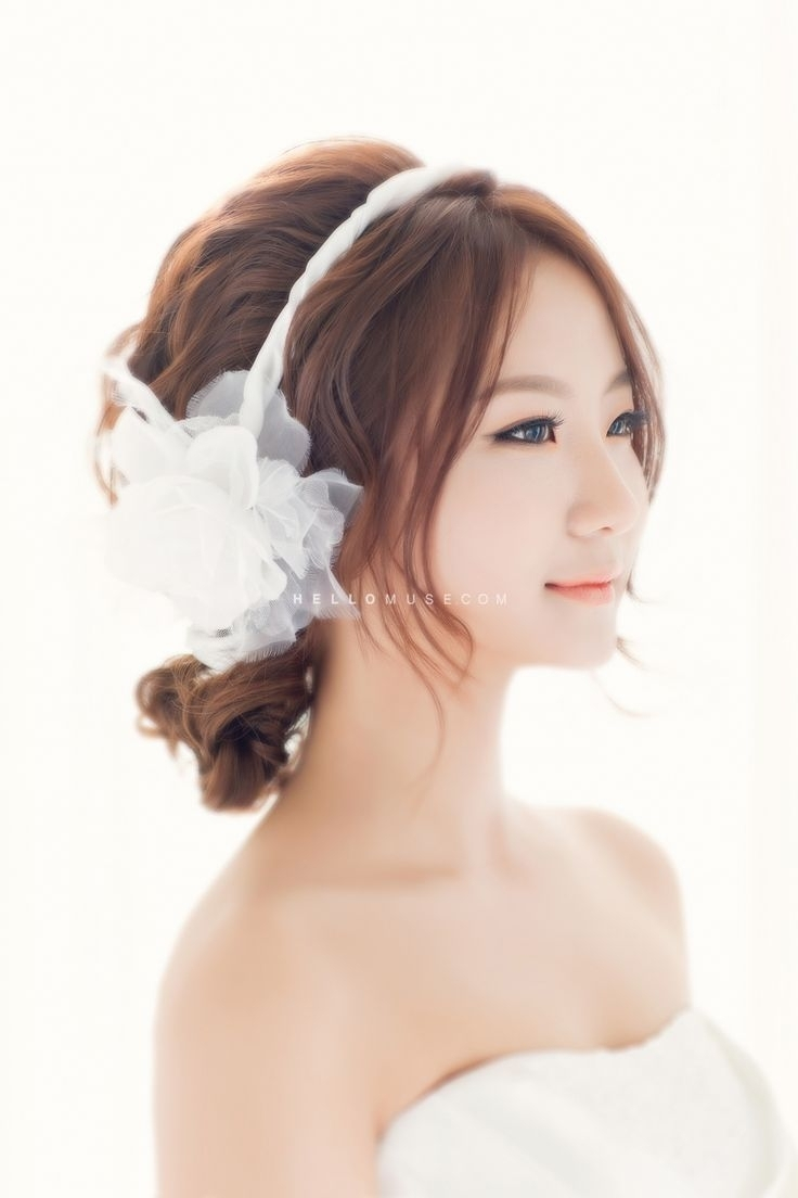 Latest Korean Wedding Hairstyles Within Wedding Hairstyles Asian 1000+ Ideas About Korean Wedding Hair On (View 13 of 15)
