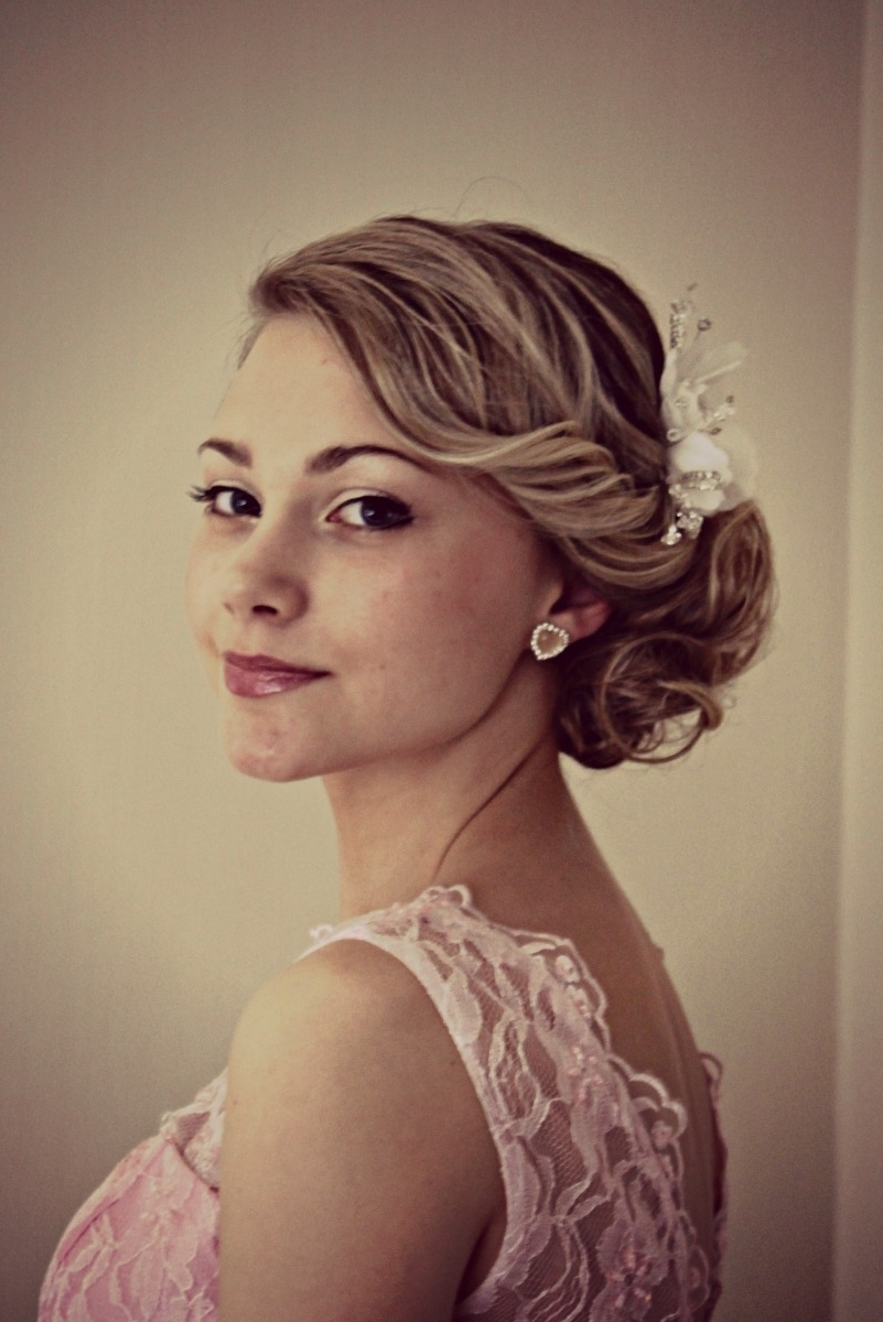Latest Roll Hairstyles For Wedding For Amelia Garwood – Wedding Hair & Make Up Artist Norwich Vintage Side (View 9 of 15)
