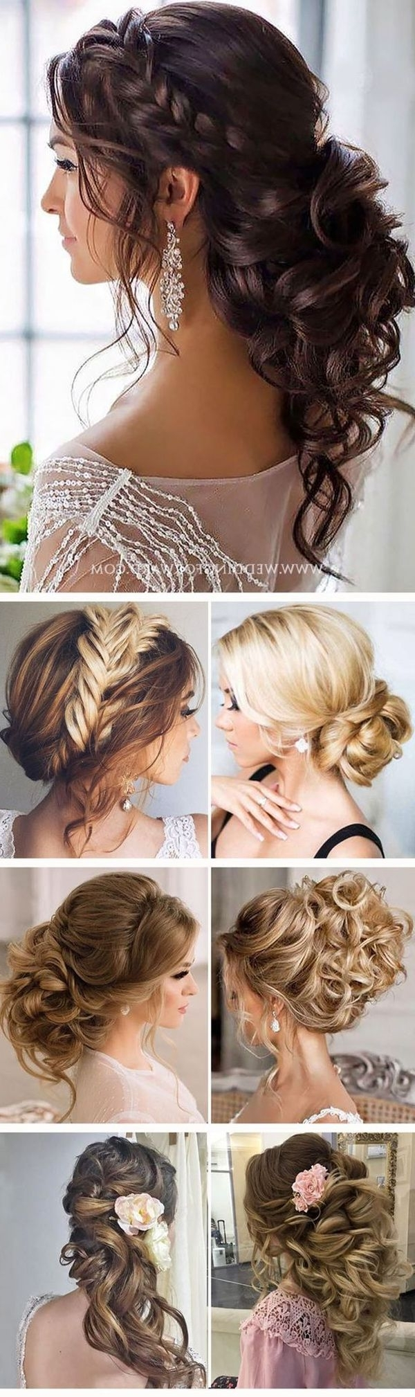 Latest Simple Wedding Hairstyles For Long Hair Thick Throughout Makeup Etc Easy Updo Tutorial Casual Impressive Hairstyles For Long (View 7 of 15)
