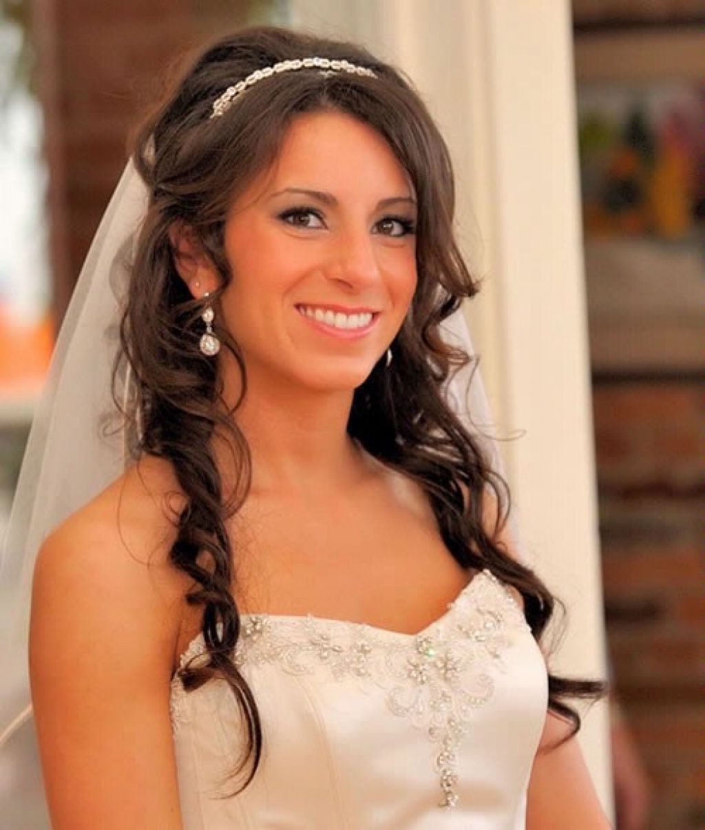 Latest Wedding Hairstyles For Long Hair With Veils And Tiaras Inside Wedding Hairstyles For Long Hair With Veil – Hairstyle For Women & Man (View 5 of 15)