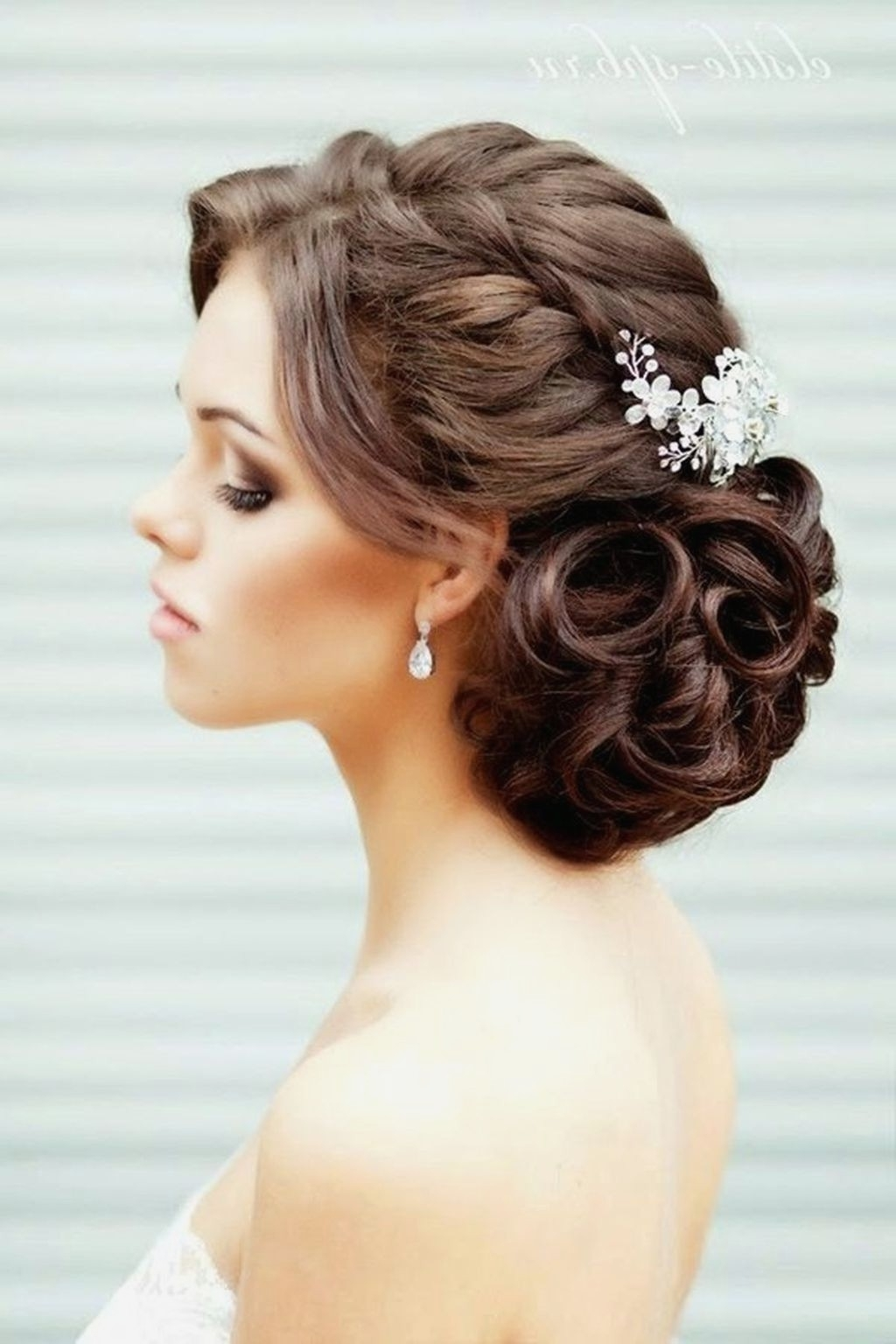 Latest Wedding Hairstyles For Long Thick Hair Intended For Long Hairstyles : Fresh Amazing Wedding Hairstyles Long Hair Latest (View 7 of 15)
