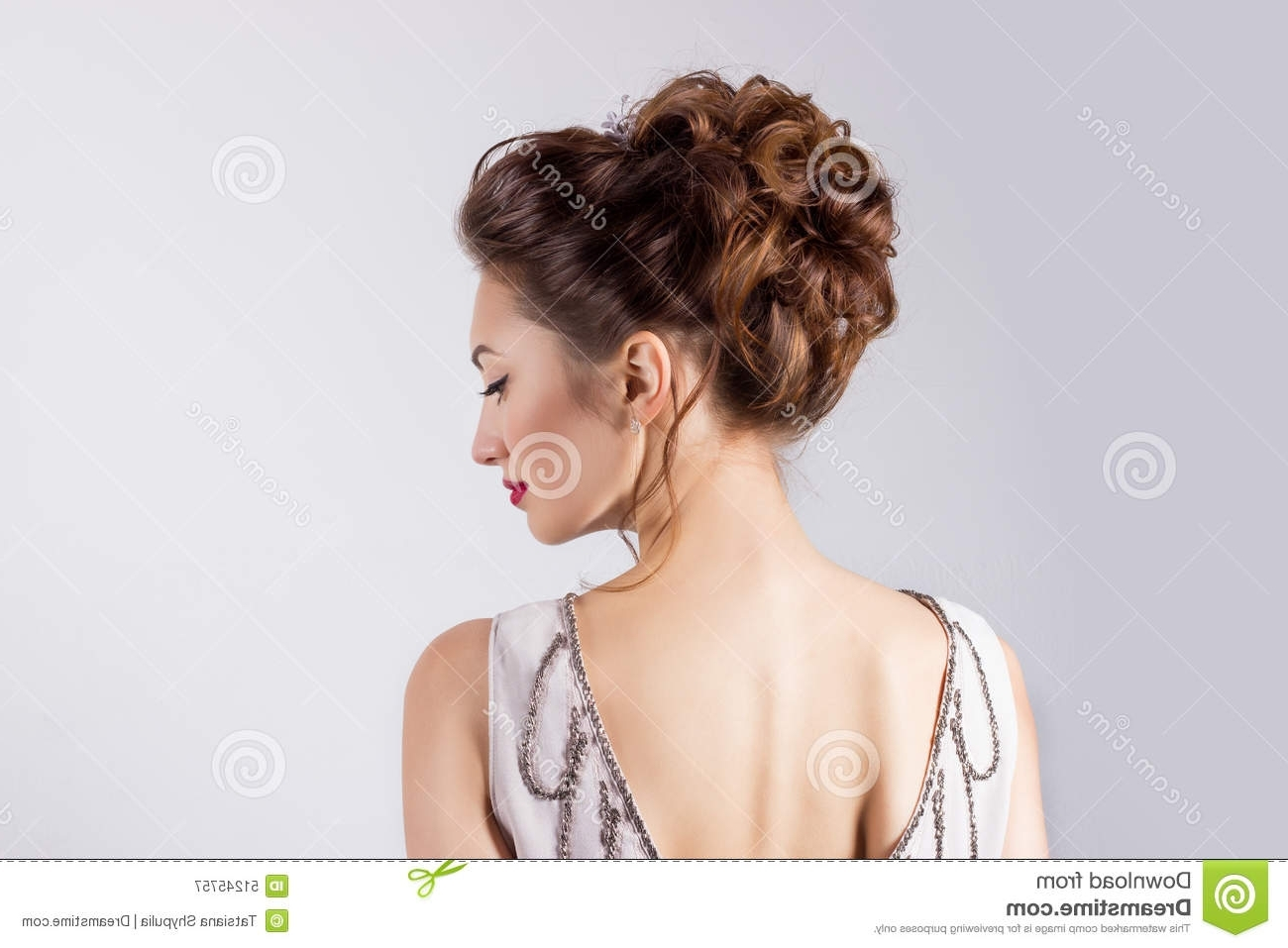 Latest Wedding Hairstyles For Young Brides Intended For Beautiful Young Girl In The Image Of The Bride, Beautiful Wedding (View 2 of 15)