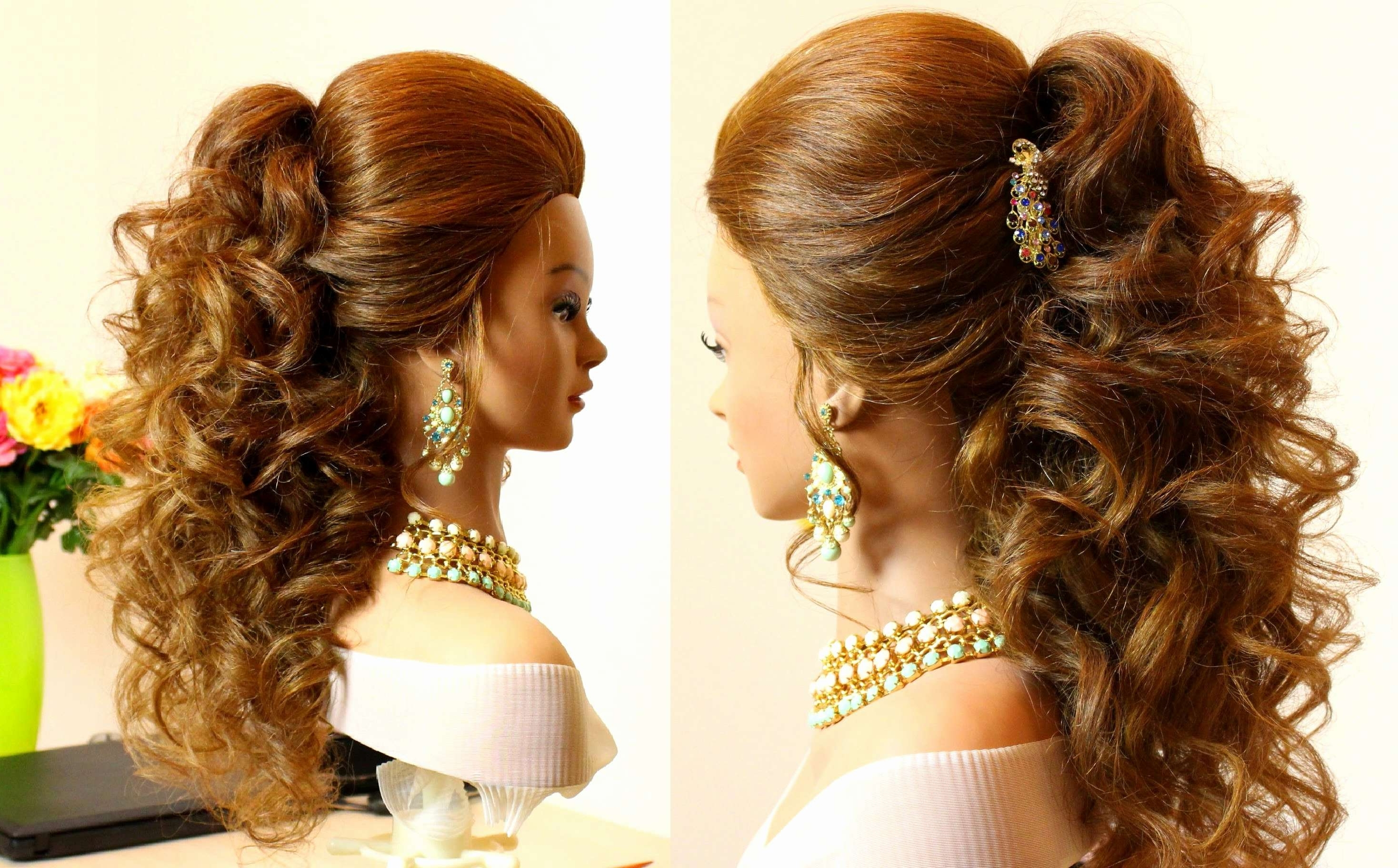 Latest Wedding Hairstyles With Curls Intended For Wedding Hairstyles Curls Up Half Down Best Of Prom Hairstyles For (View 9 of 15)