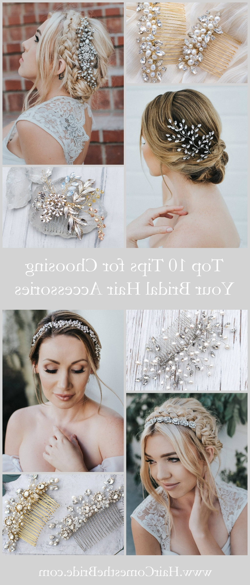 Latest Wedding Hairstyles With Hair Accessories In Top 10 Tips For Choosing Your Bridal Hair Accessories – Hair Comes (View 5 of 15)