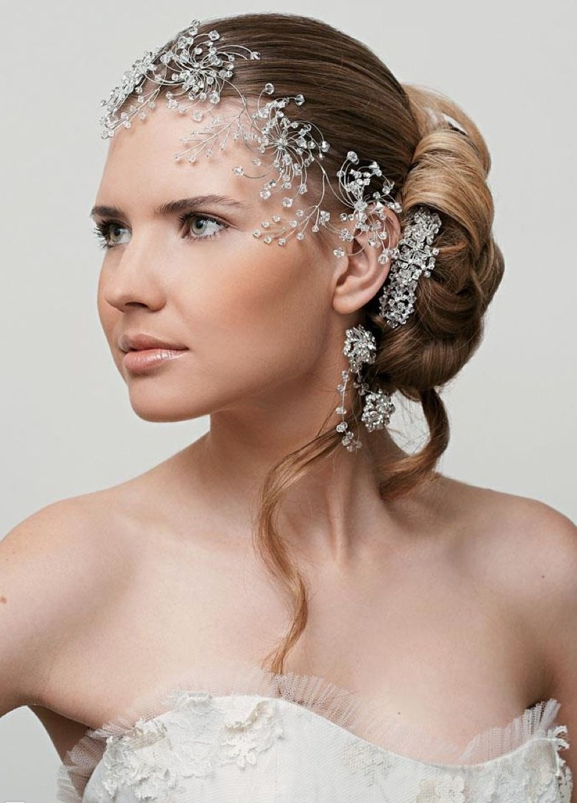 Featured Photo of Wedding Hairstyles With Jewels