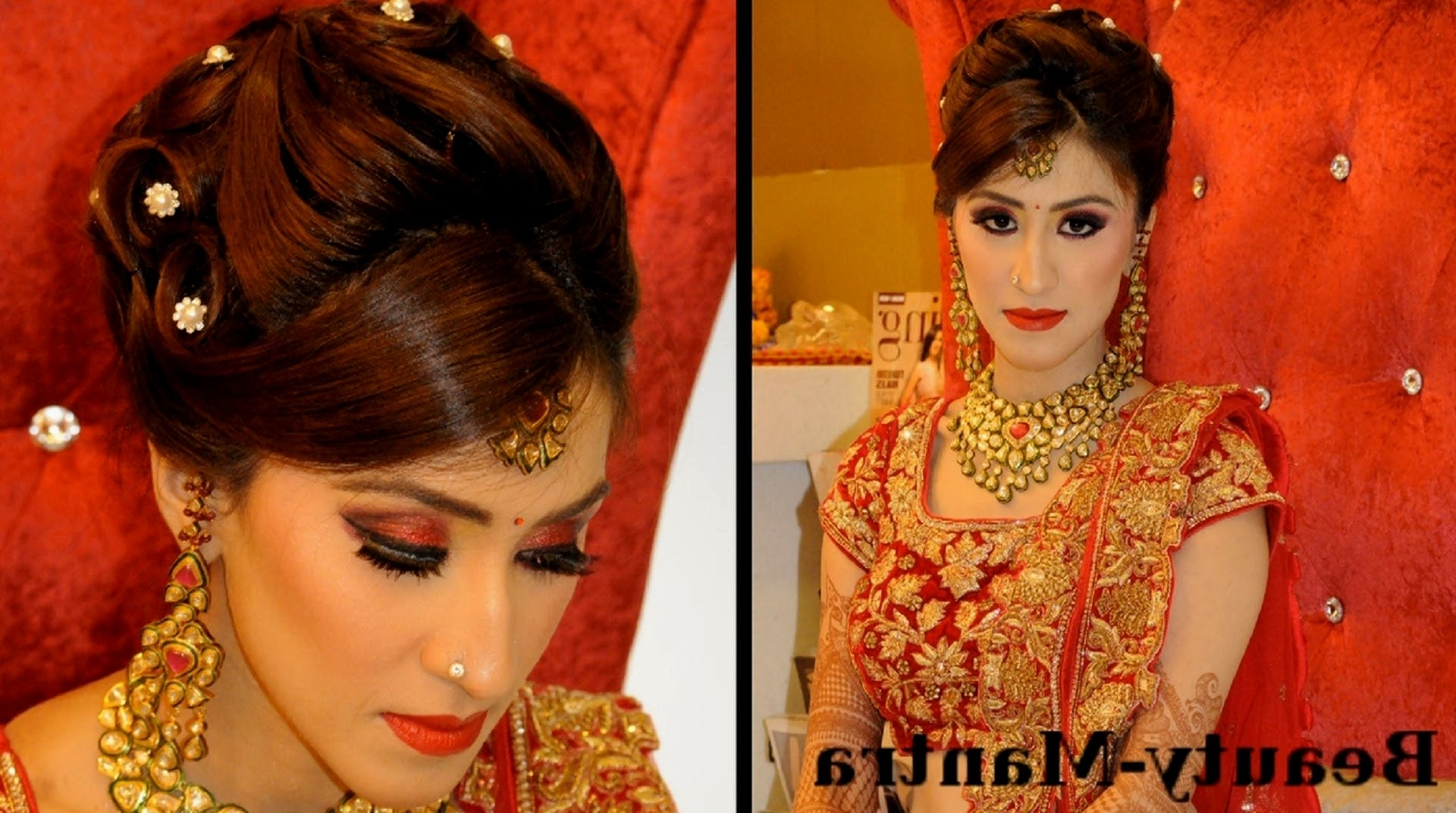 Latest Wedding Reception Hairstyles For Long Hair Within Wedding Reception Hairstyles (View 8 of 15)