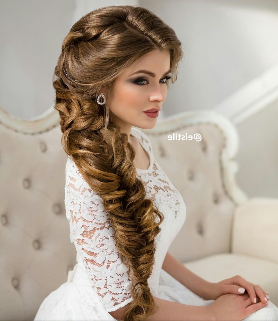 Long Braided Wedding Hairstyle Via Elstile In Widely Used Wedding Hairstyles For Long Hair With Braids (View 6 of 15)