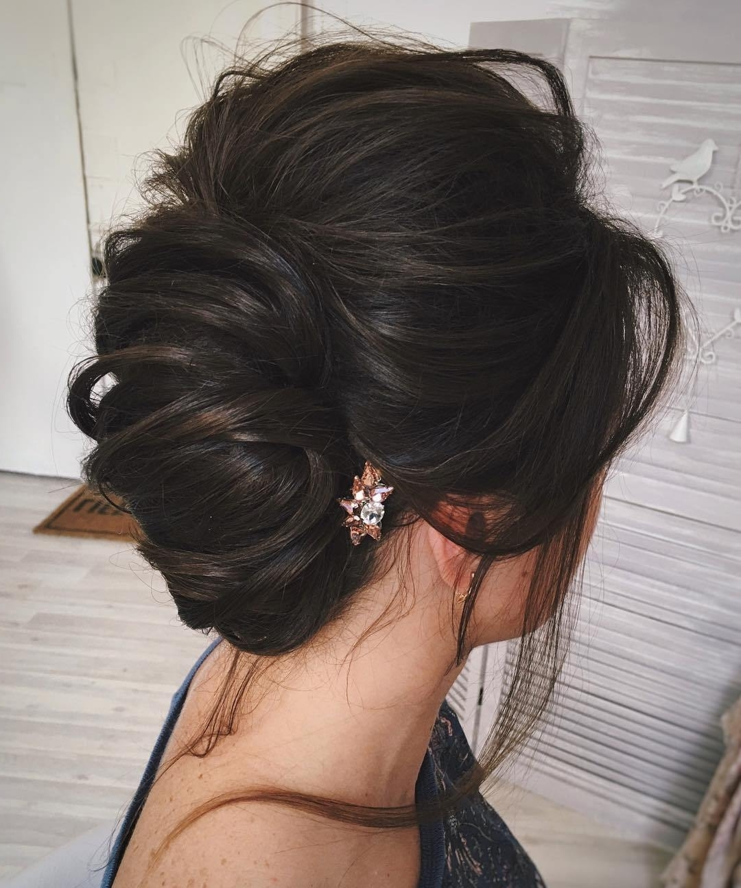 Long Hair Archives – Trubridal Wedding Blog Regarding Trendy Messy Wedding Hairstyles For Long Hair (View 11 of 15)