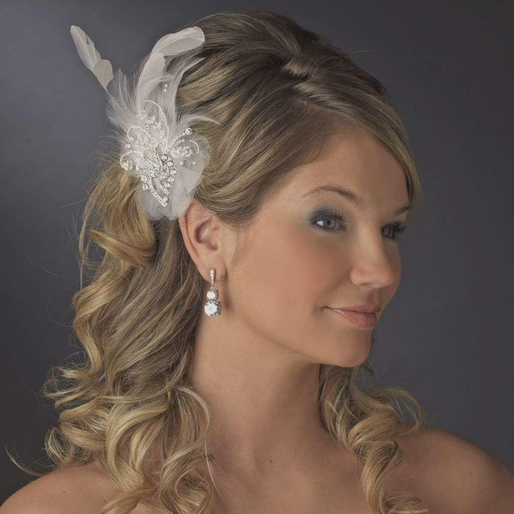 Long Hairstyles For Wedding Guest Best Of Wedding Hairstyles For Pertaining To 2017 Wedding Hairstyles For Long Hair With Fascinator (View 7 of 15)