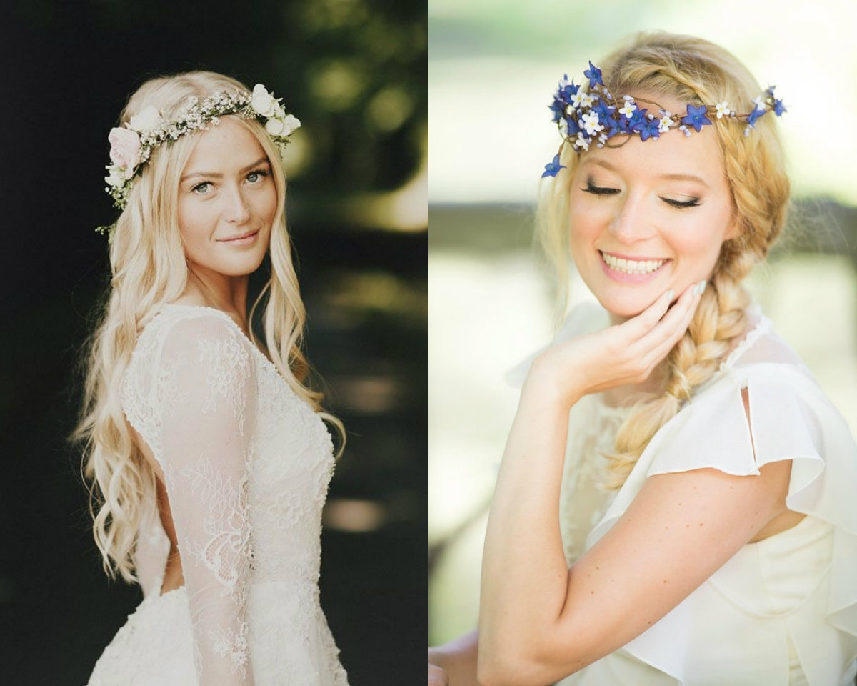 Luxury Flower Crown Wedding Hairstyles 60 Wedding Decoration Ideas Pertaining To Most Recent Wedding Hairstyles With Crown (View 9 of 15)
