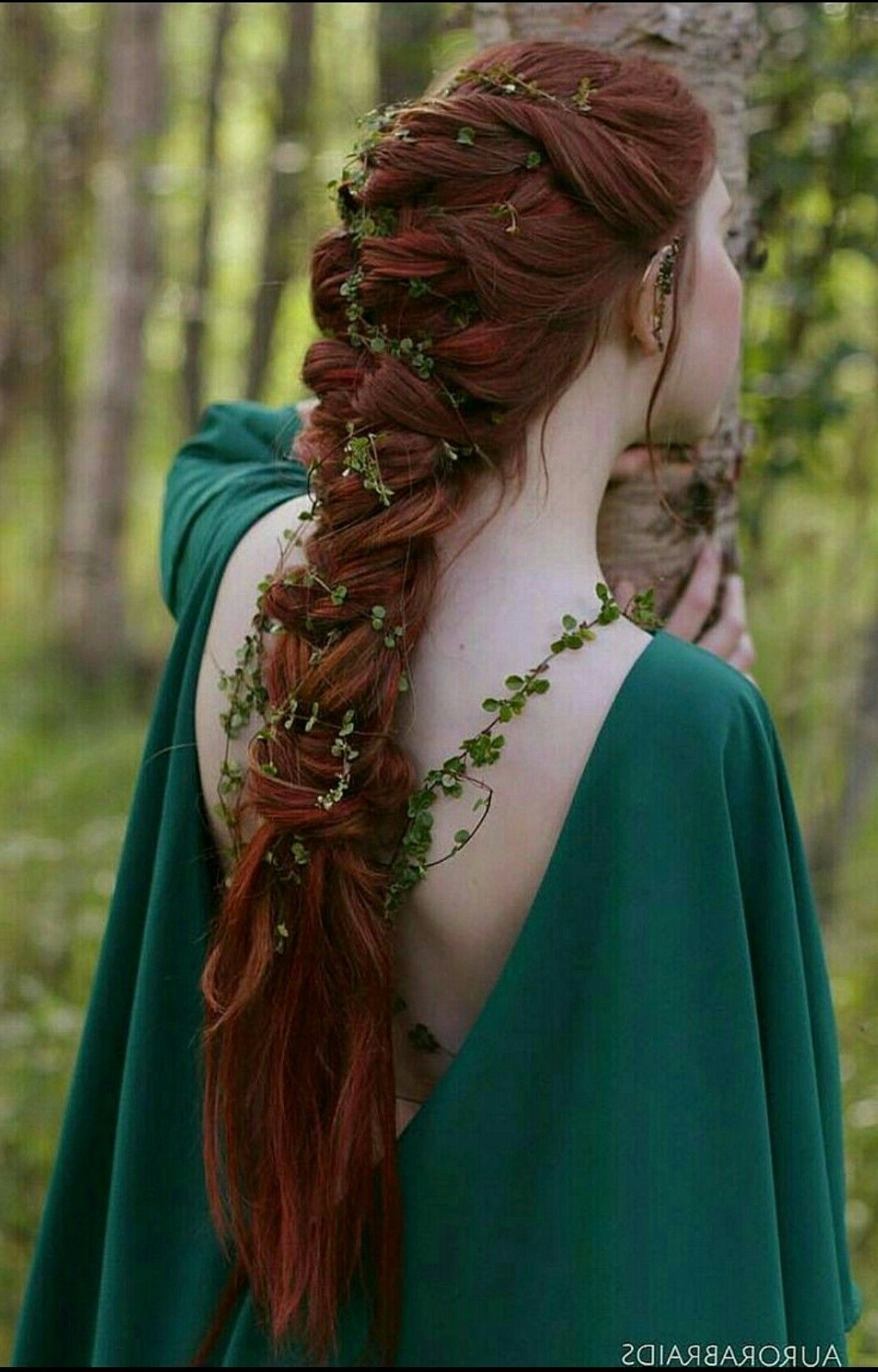 Medieval Wedding Hairstyles For Long Hair Best Of So Pretty Green Inside Most Up To Date Wedding Hairstyles For Long Red Hair (View 10 of 15)