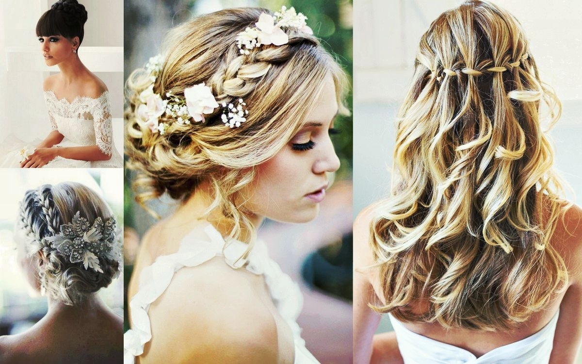 Medium Hair Styles Ideas Intended For Newest Beach Wedding Hairstyles (View 12 of 15)