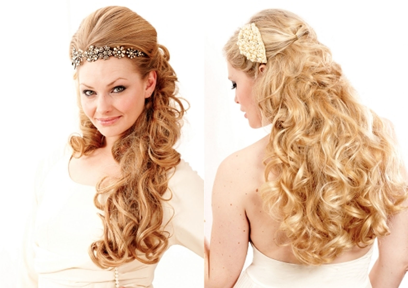 Medium Hair Styles Pertaining To Well Liked Wedding Hairstyles For Long Thick Curly Hair (View 8 of 15)