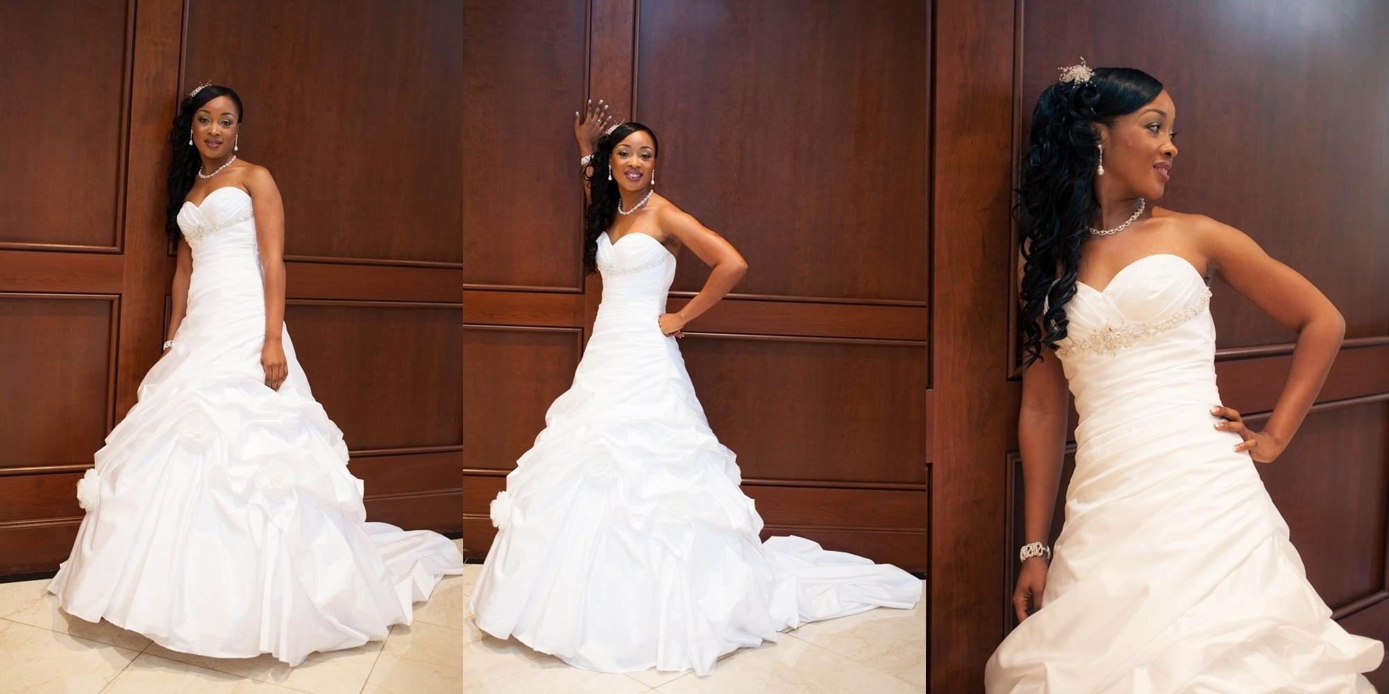 Mesmerizing African American Bride Hairstyles With Wedding Inside Well Known Wedding Hairstyles For Long Hair African American (View 7 of 15)