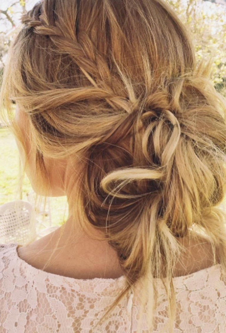 Messy Braided Bun (View 11 of 15)