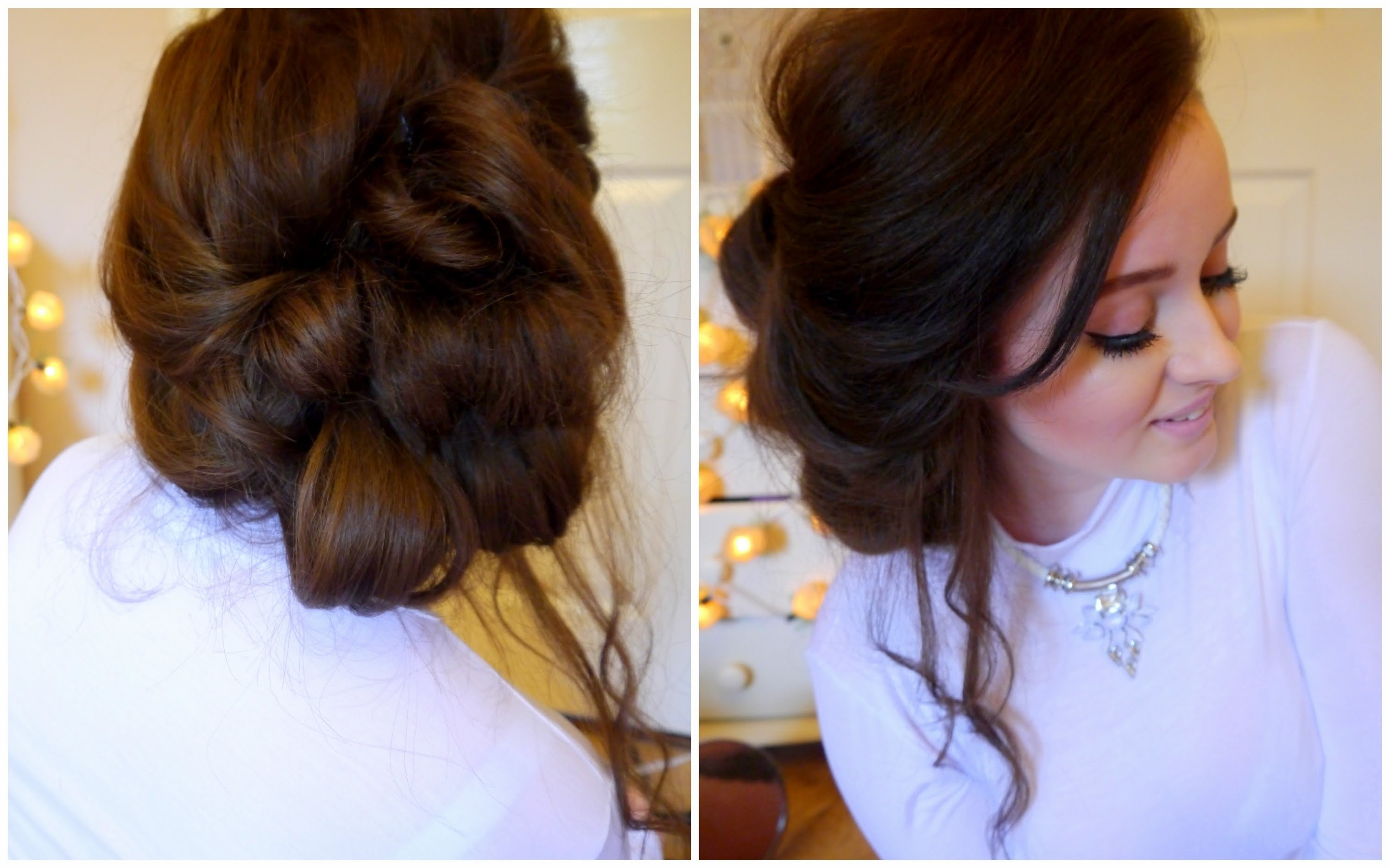 Messy Side Updo Hair Tutorial – Youtube Within Most Recently Released Messy Wedding Hairstyles For Long Hair (View 5 of 15)